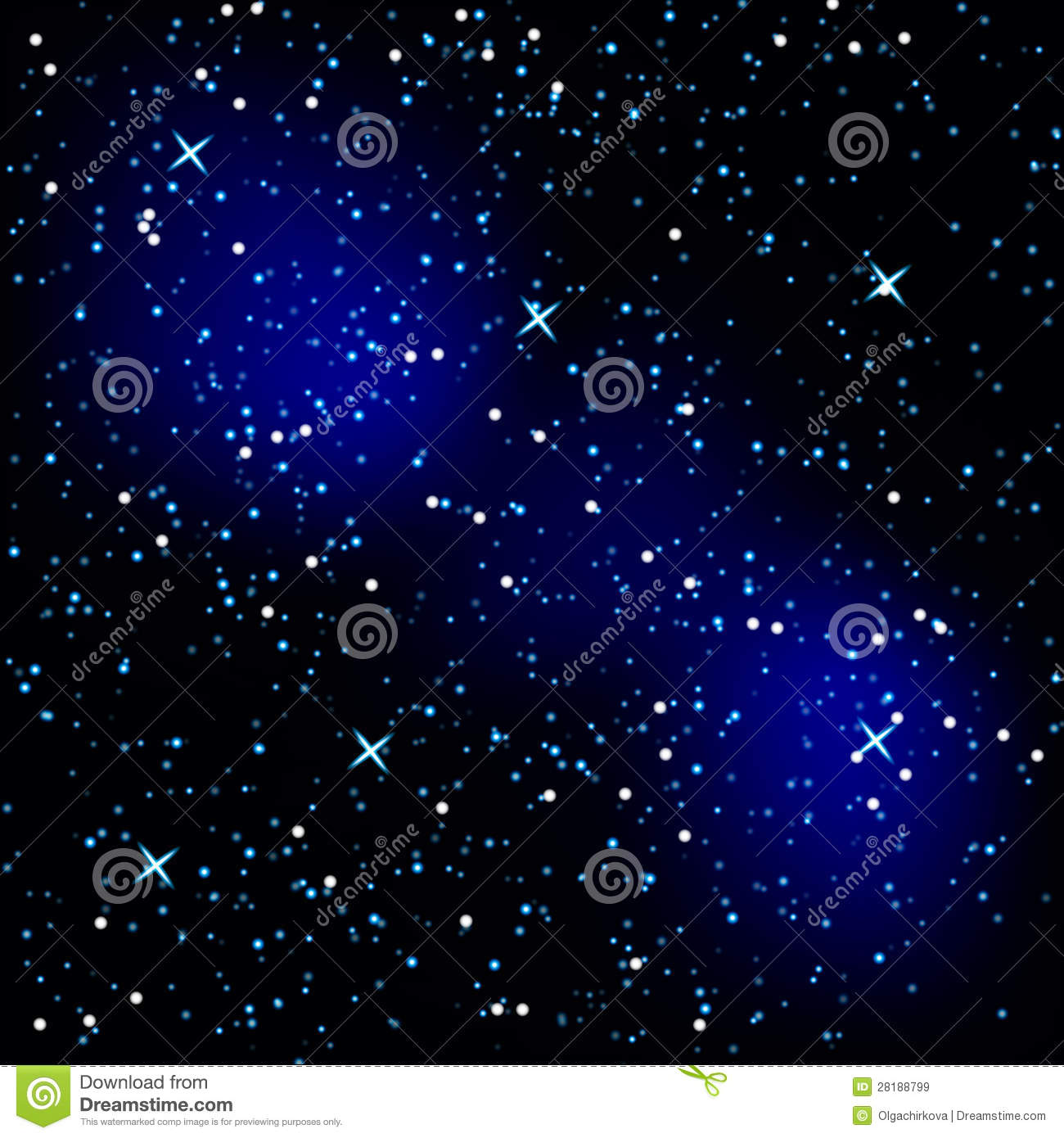 Background in the form of a starry sky.