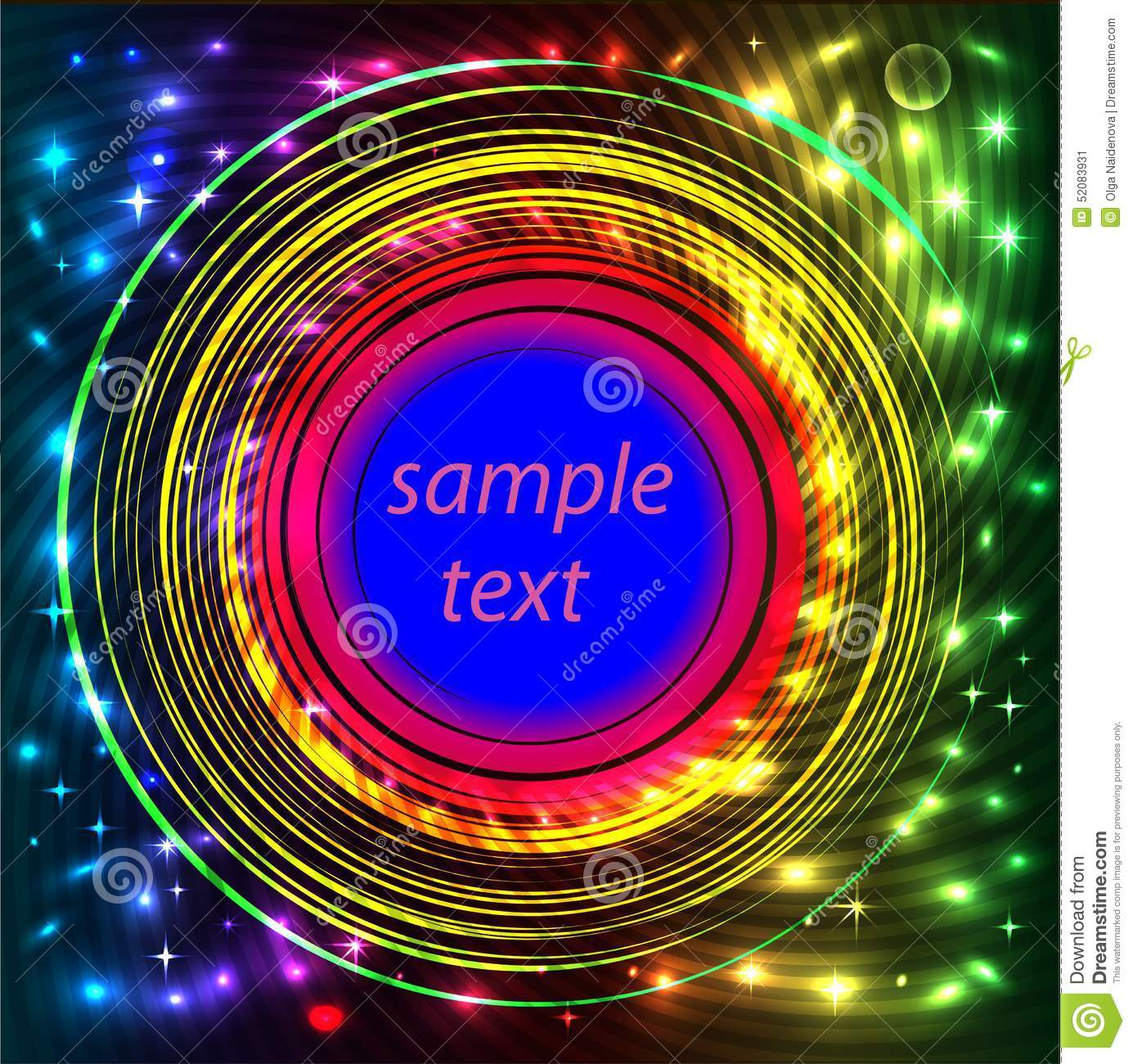 Background Frame Abstract Bright Neon With Rotation Stock