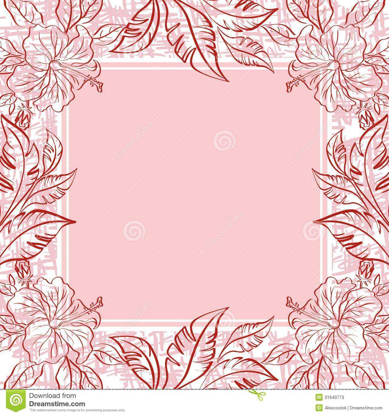 background frame of flowers and leaves stock photos