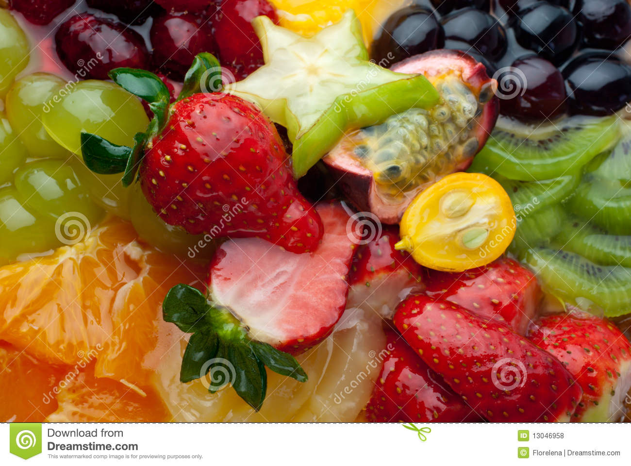 Background of fresh fruits and berries (macro)