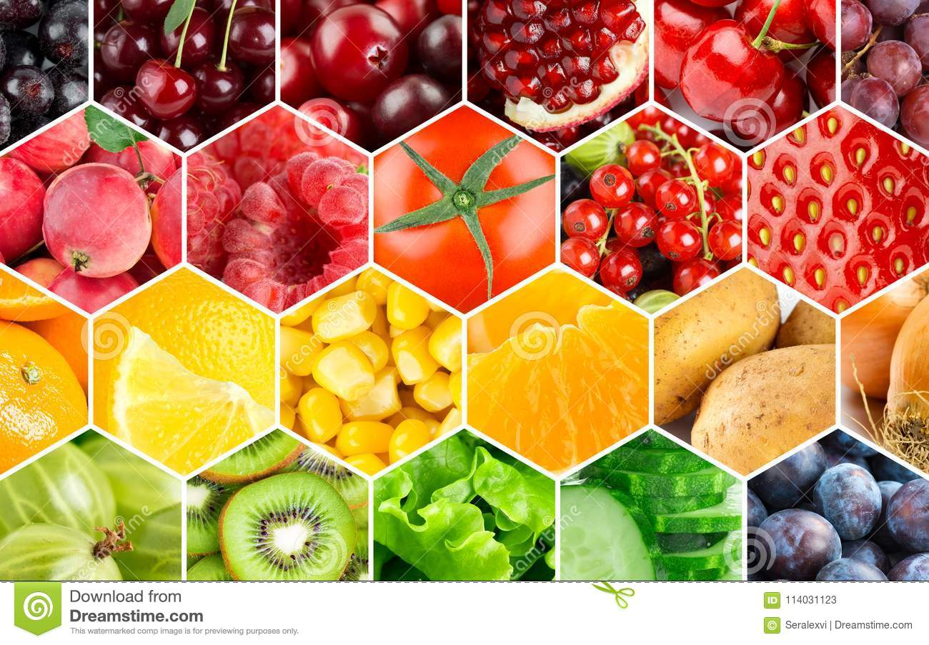 Background Of Fruits And Vegetables Stock Image - Image of ...