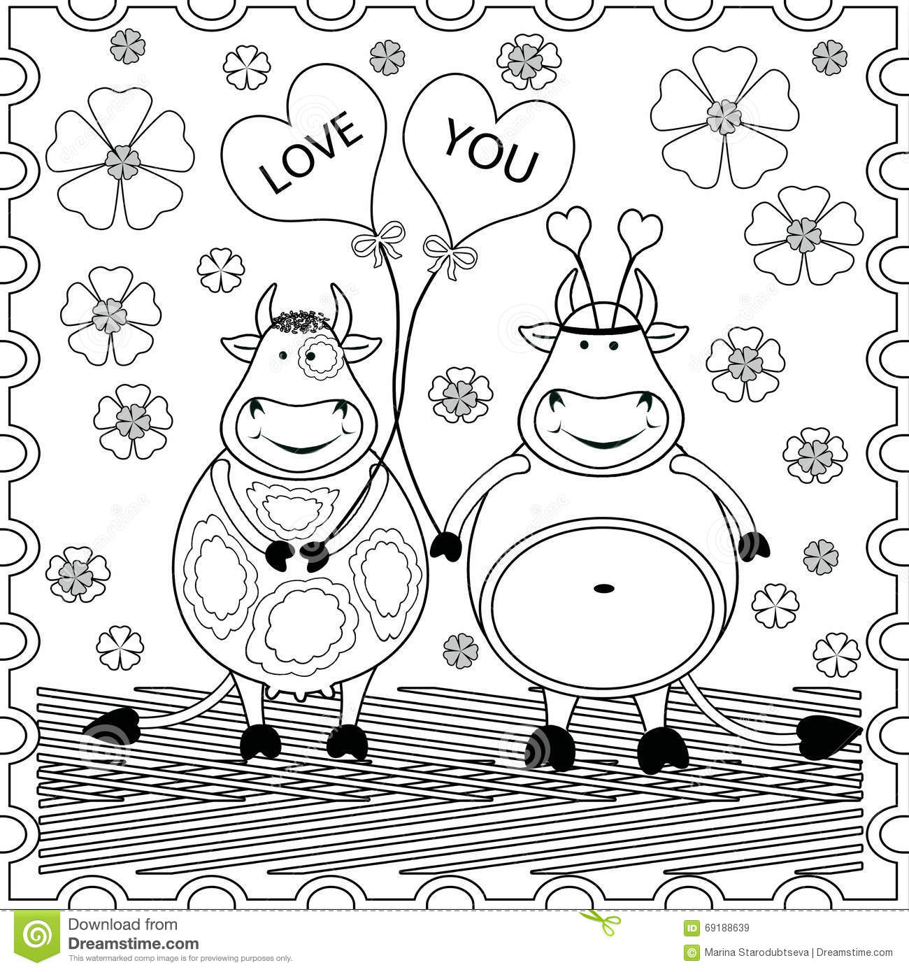 background with funny animals coloring pages for kids and adults