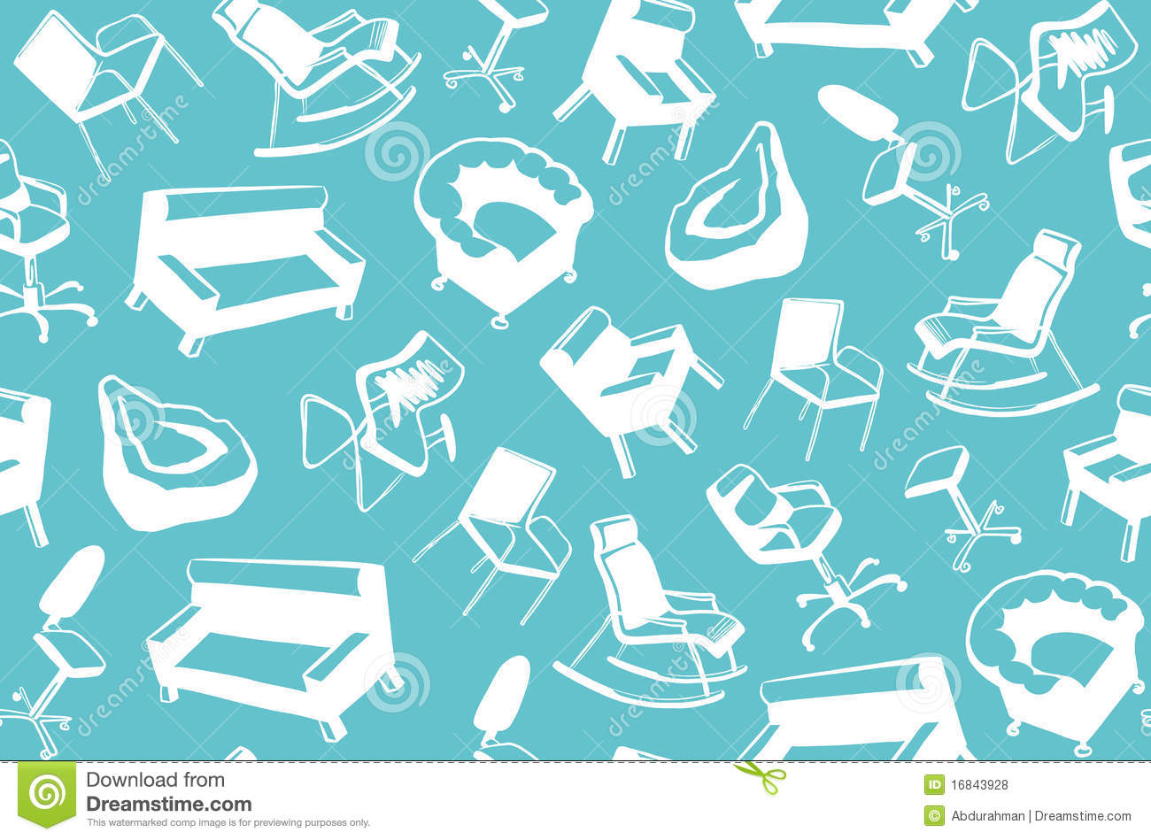 Background Of Furniture For Sitting Stock Vector Image