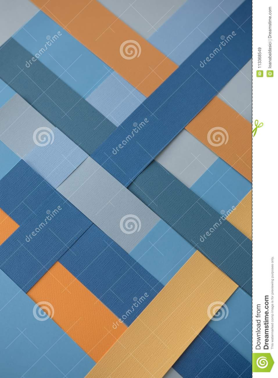Background with geometric patterns in blue and yellow colors