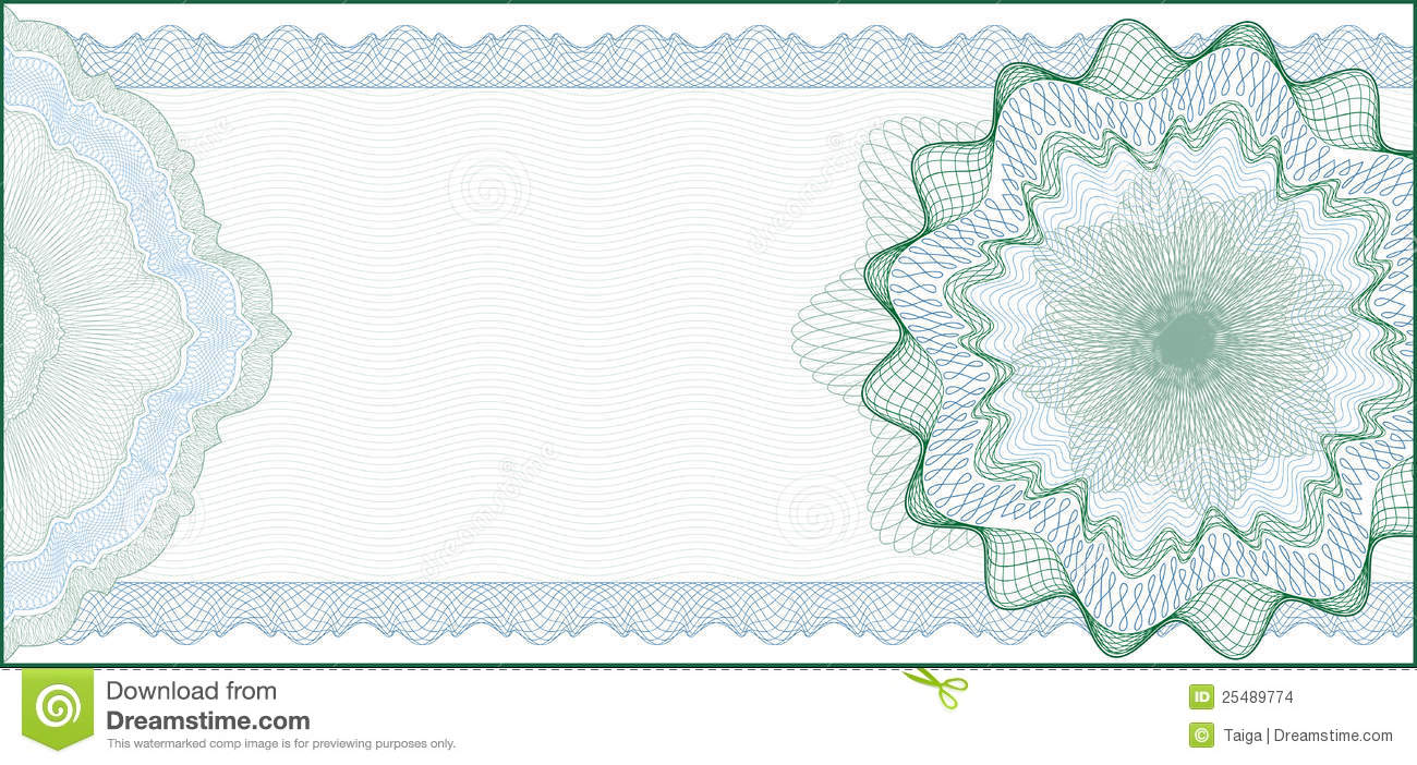Elegant Guilloche Background for Gift Certificate, Voucher or Banknote ...