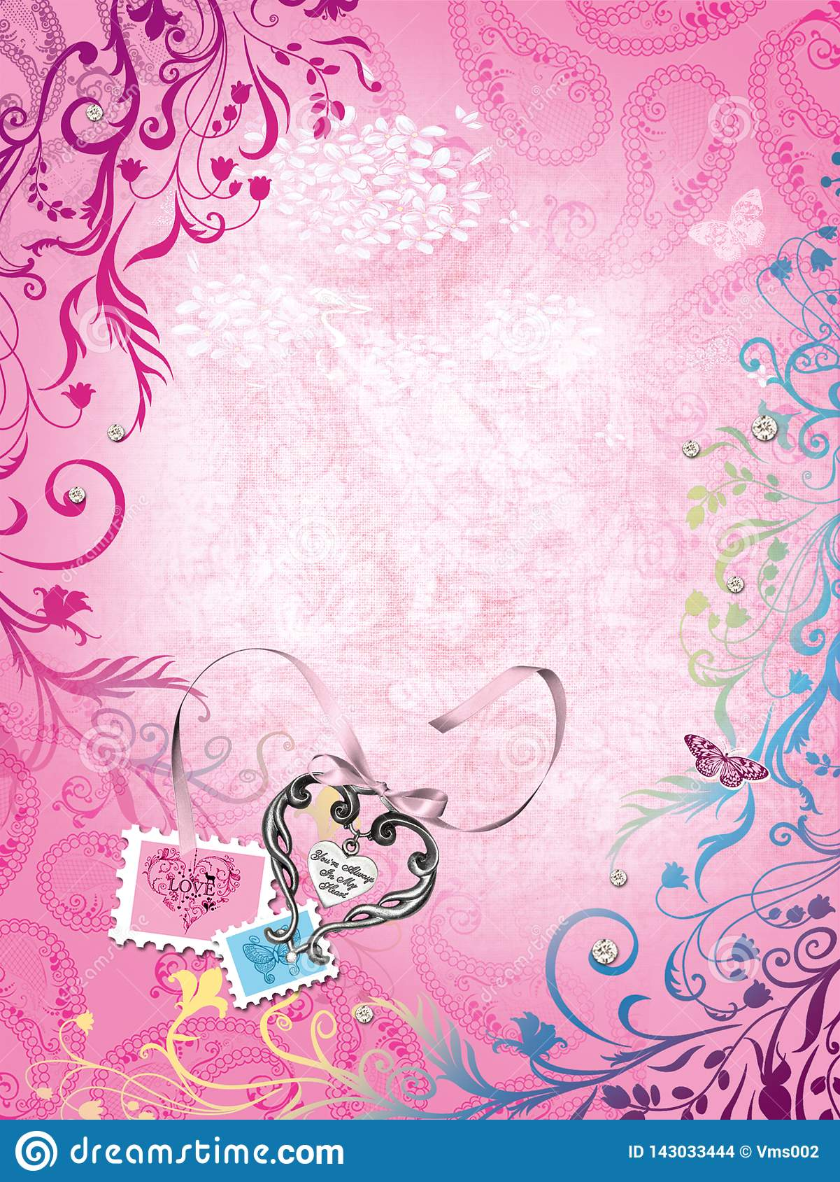 Background For Girls Hearts And Stamps Stock Illustration Illustration Of Flora Girls 143033444 You can explore in this category and download free pink background photos. https www dreamstime com background girls hearts stamps butterfly pink delicate design cute backgrounds image143033444