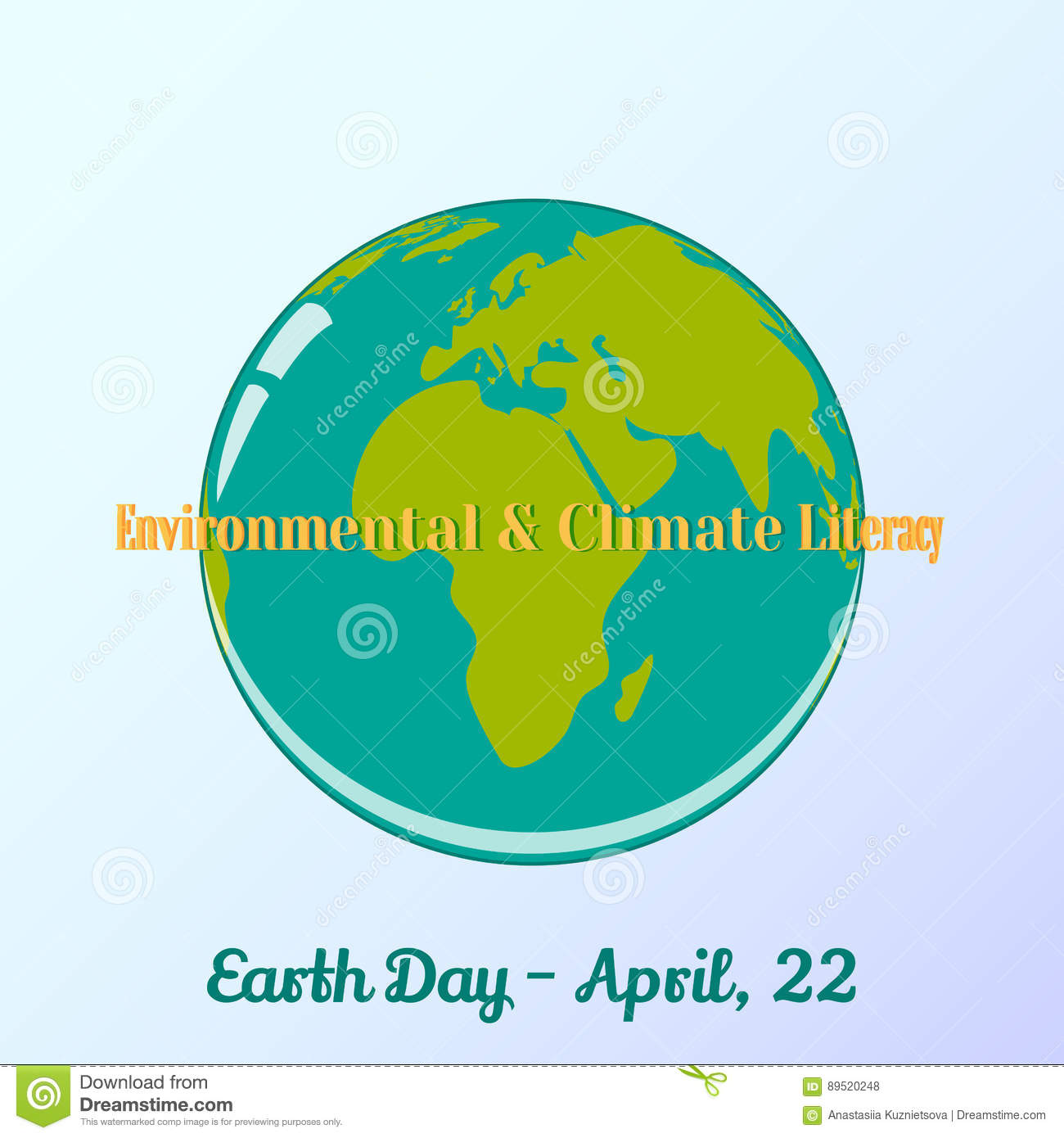 Background with globe and lettering in cartoon style for world earth background with globe and lettering in cartoon style for world earth day environmental and climate literacy vector ccuart Gallery