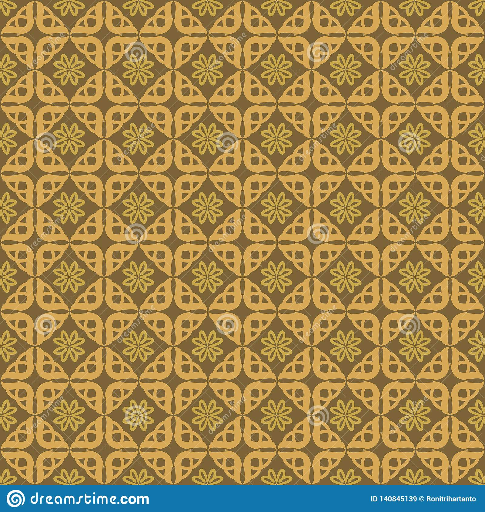 Ornament Love Pattern Background Gold