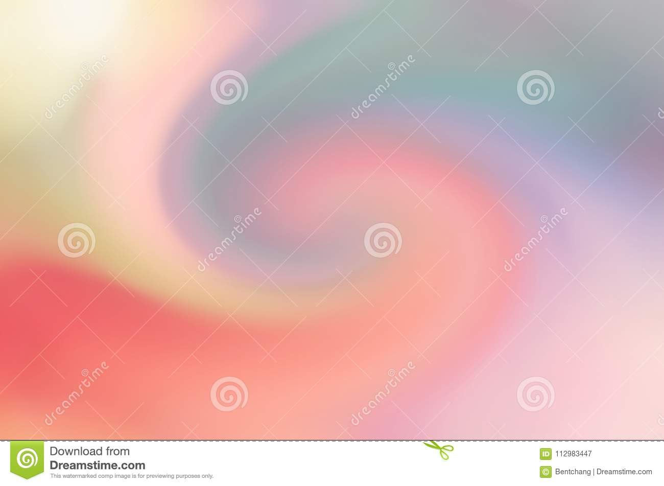 Background for graphic design, blur motion. Movement, red, twirl & bubble.