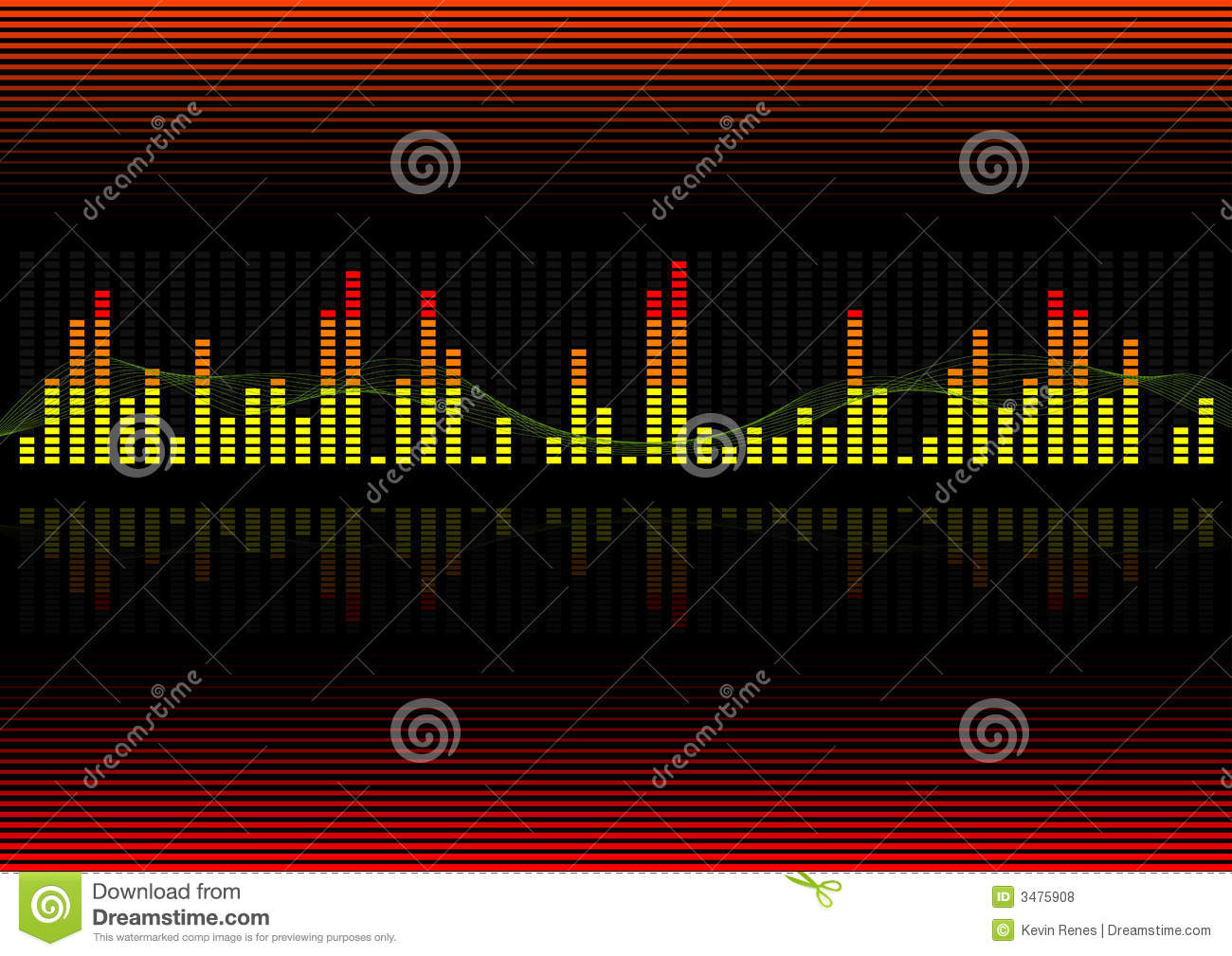 Background Graphic Equalizer Royalty Free Stock Photos