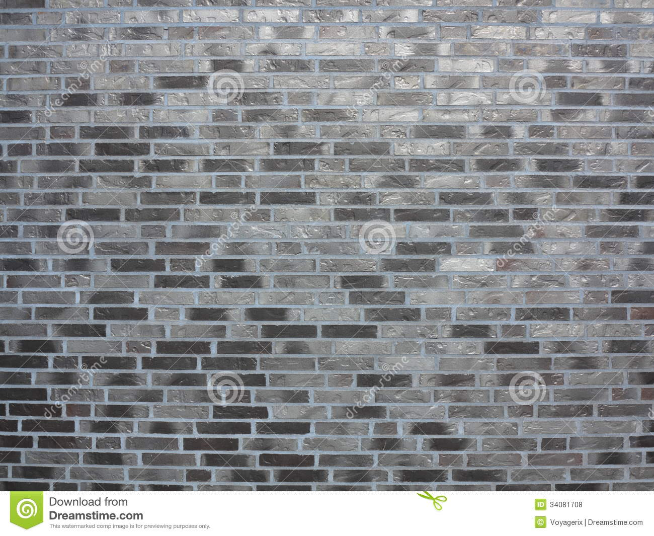 Background Of Gray Brick Wall Texture Royalty Free Stock