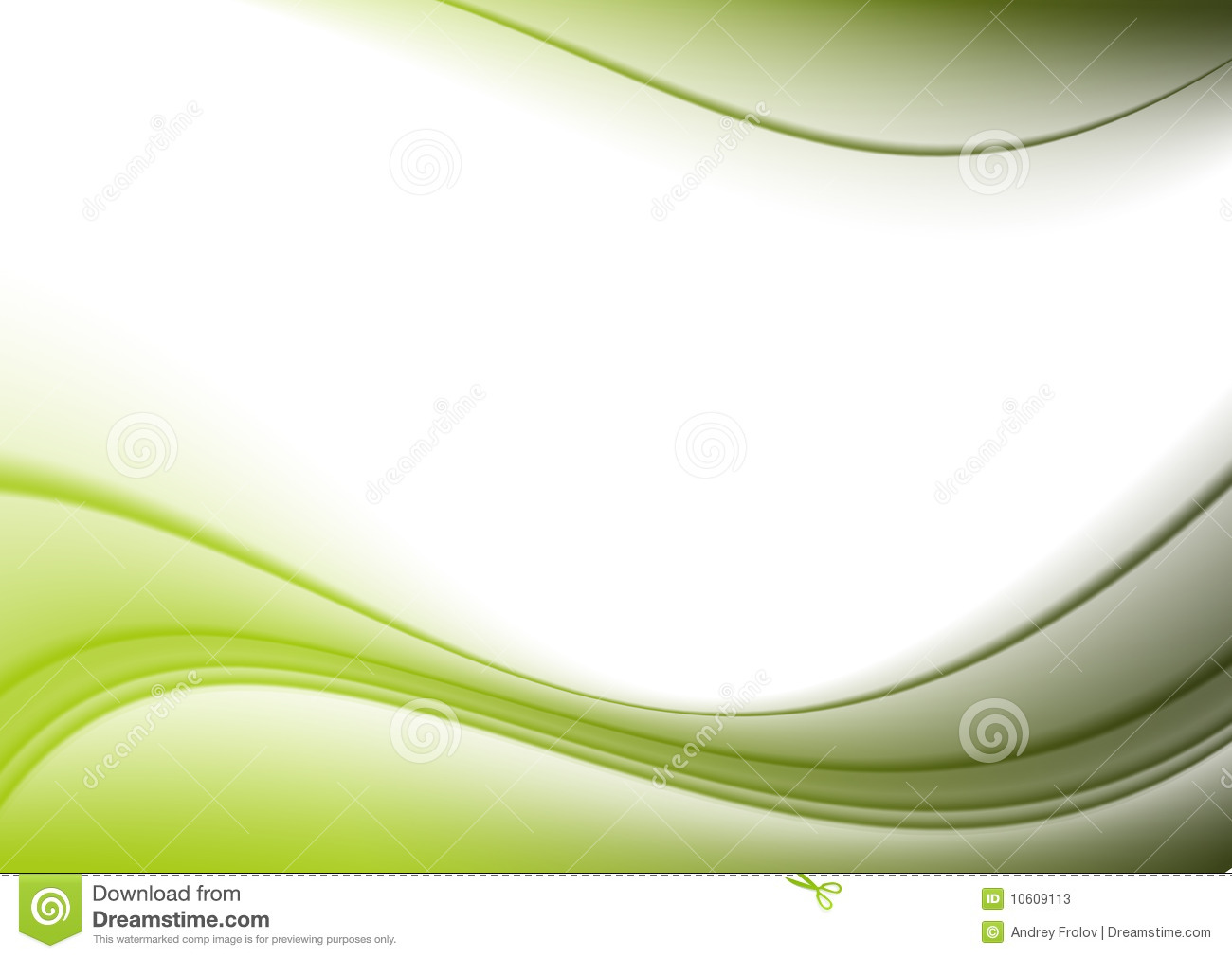 Background Green Curves Stock Illustration Of