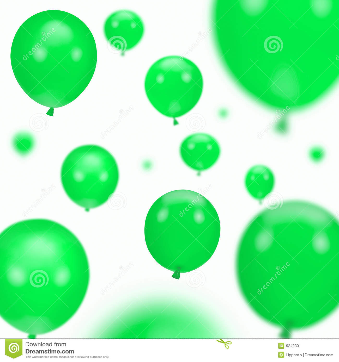 Background of green party balloons stock image image of different excitement 9242301