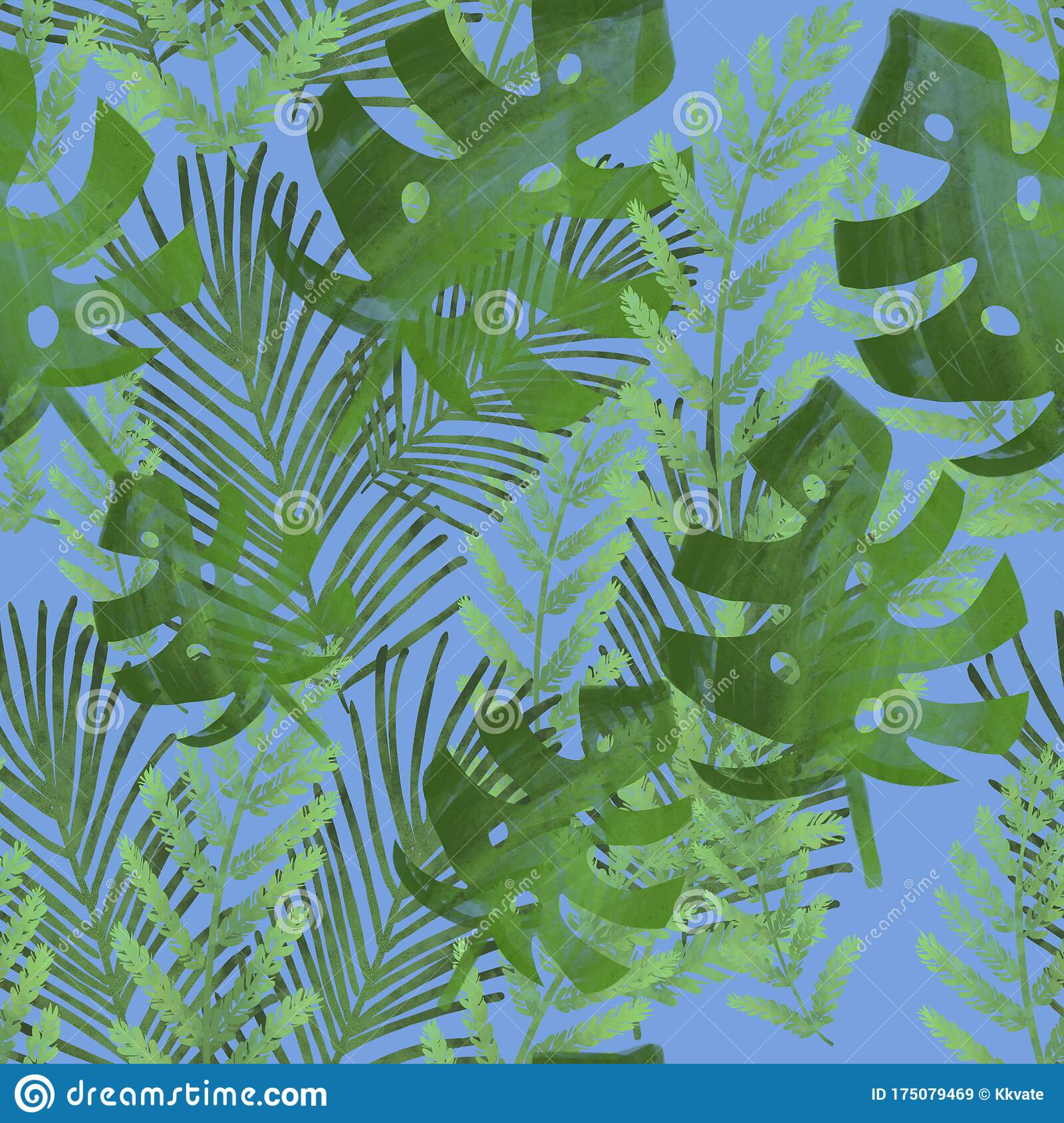 Background With Green Tropical Leaves Seamless Pattern Monstera Palm Leaves Fern Banana Leaves Print Fabric Design Stock Illustration Illustration Of Packaging Green 175079469 In this post we gather a wonderful vintage collection of hawaiian tropical leaf prints including <p>you might already have notice the raise of all type of palm trees, tropical leaf prints and. dreamstime com