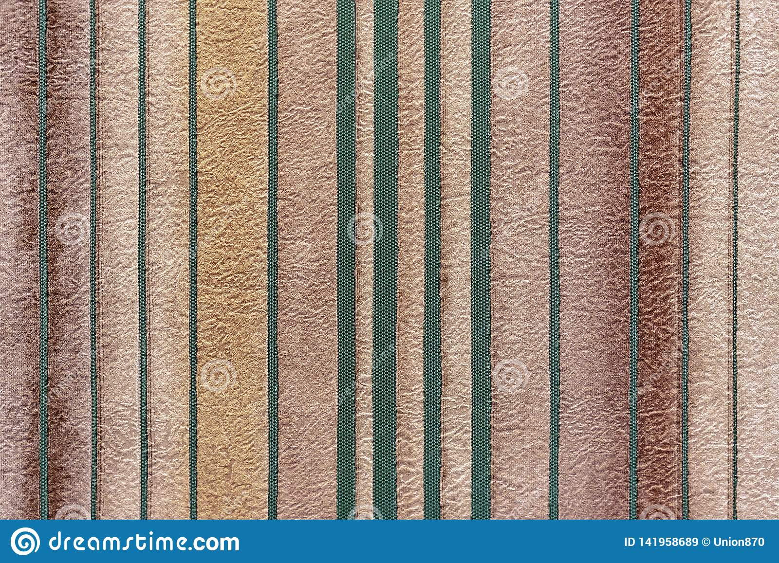 Background with green vertical strips on beige