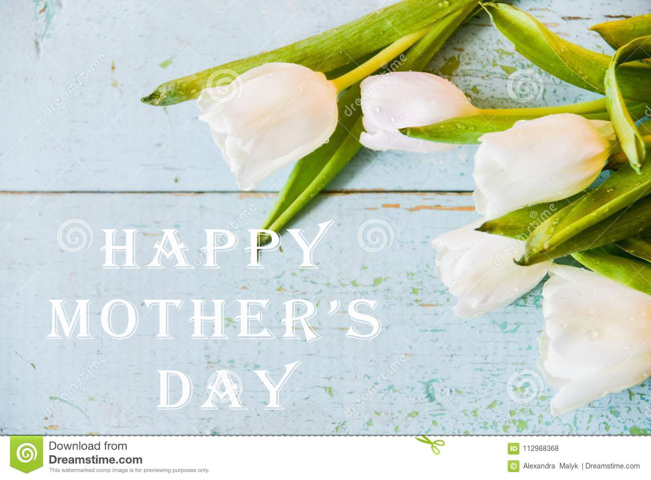 Background, greeting card: bouquet of multicolored tulips on a light background. Layout, mocap, for your text mother s day, copys