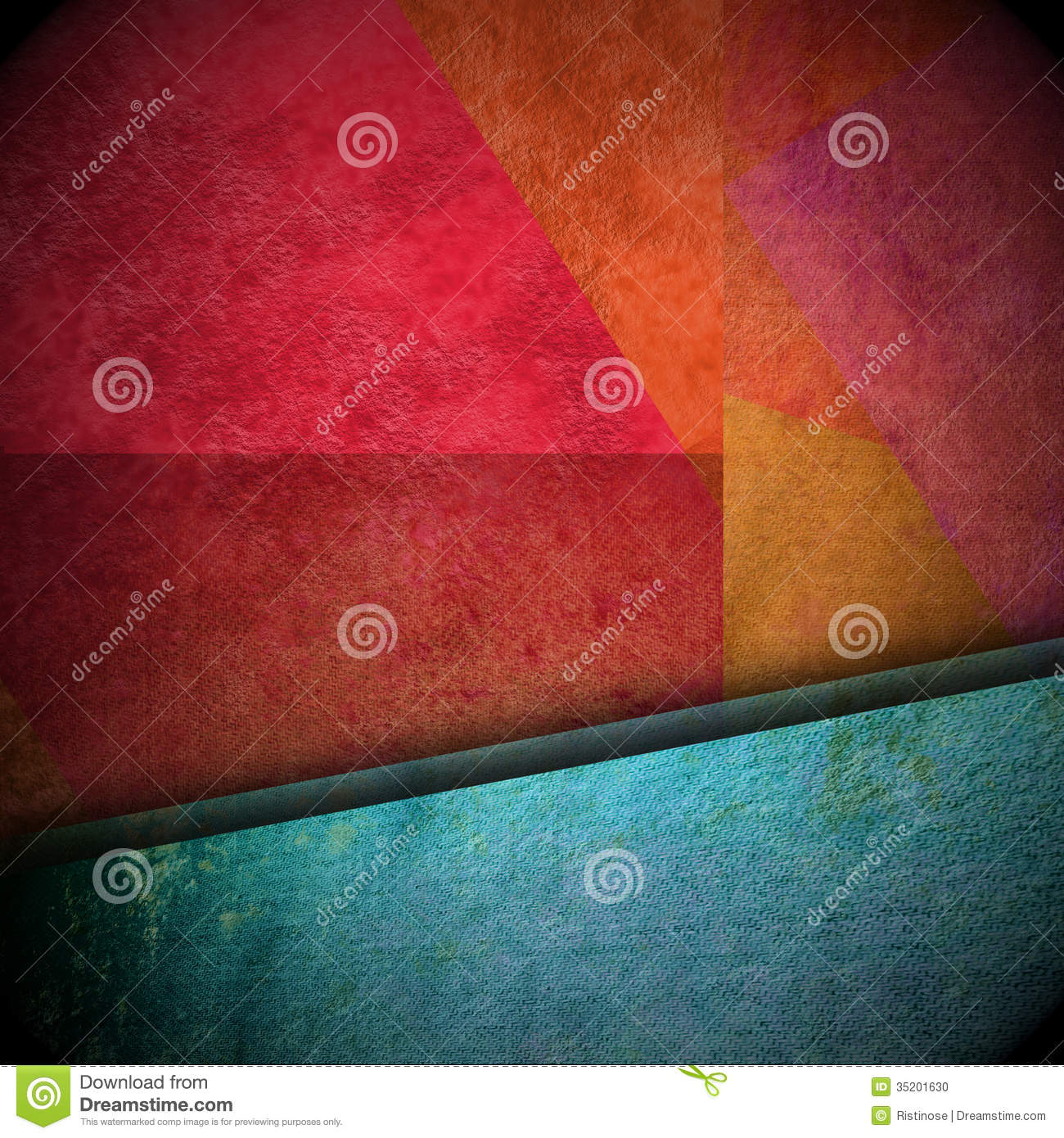 Background with grunge texture and metallic blue ribbon