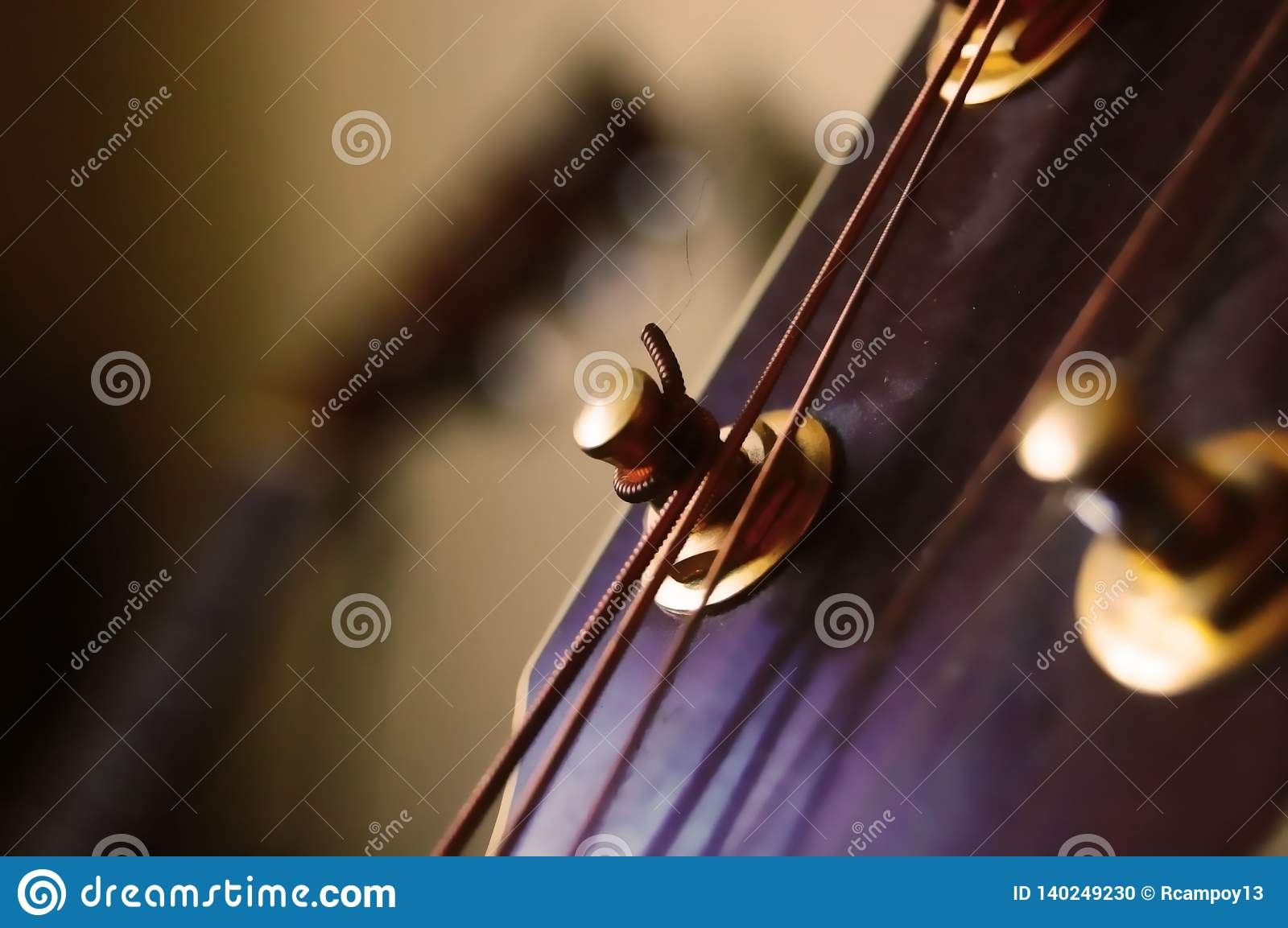 A background of a guitar