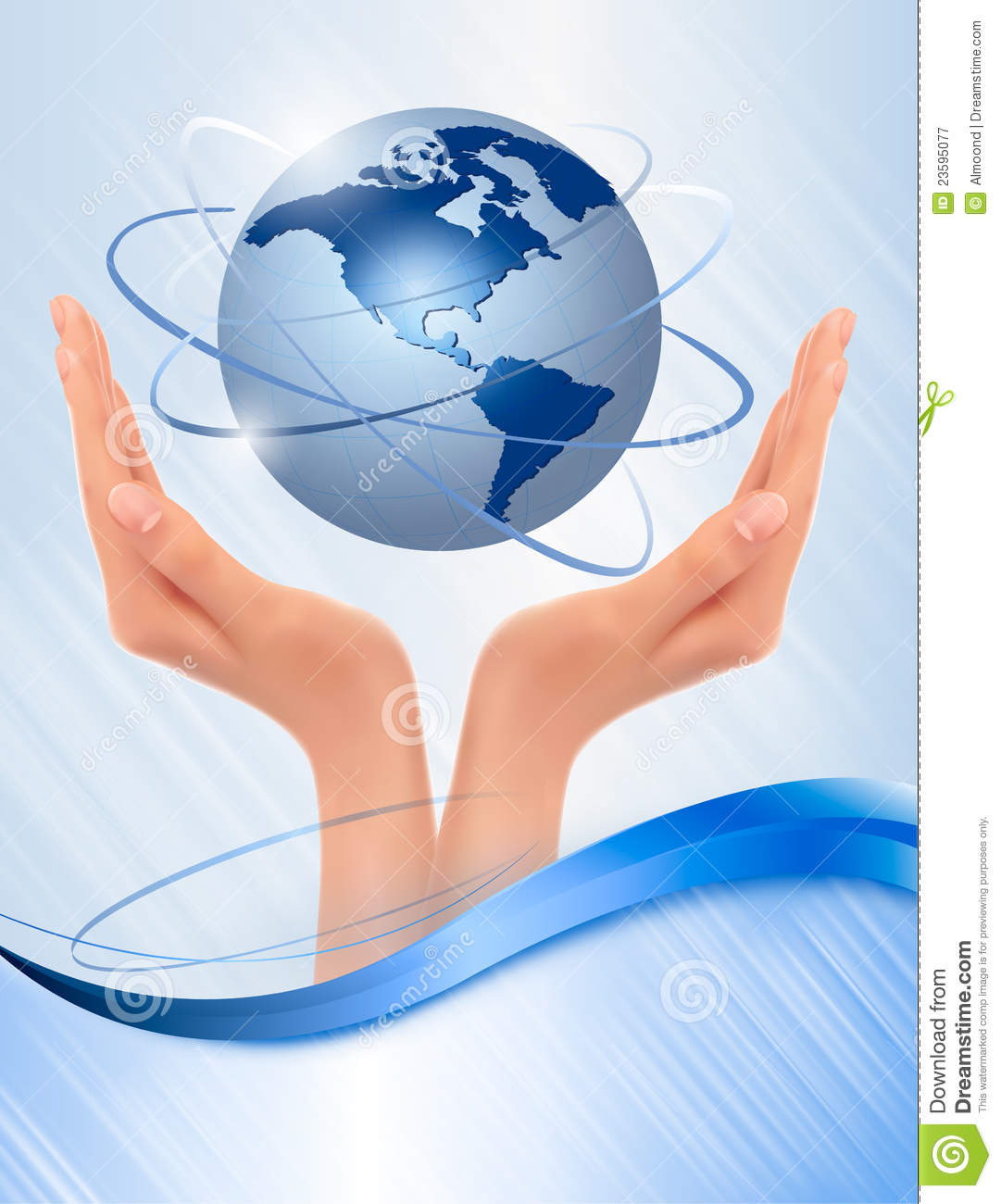 background with hands holding globe  royalty free stock