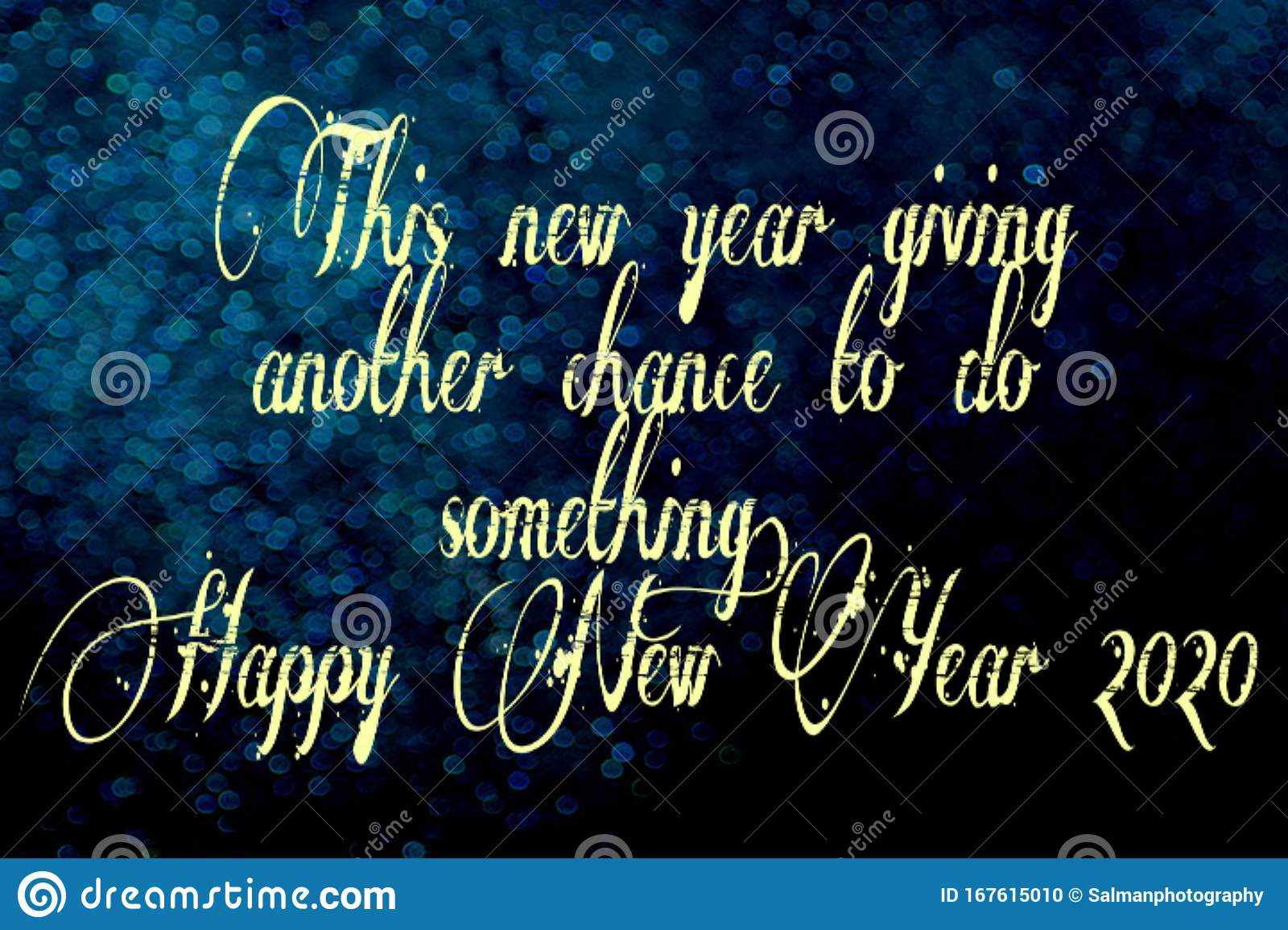 background of happy new year motivational quote stock