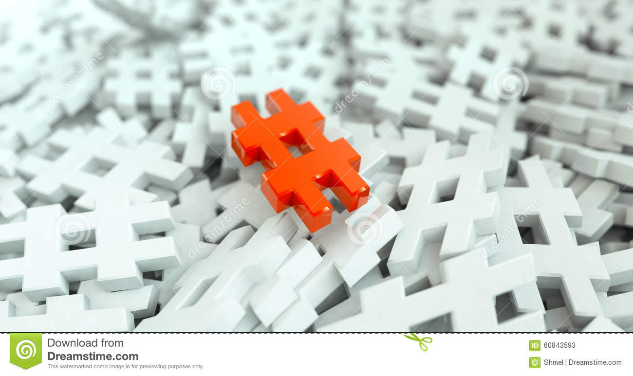 Tags Hashtag Symbol Message Update Background Stock Image ...