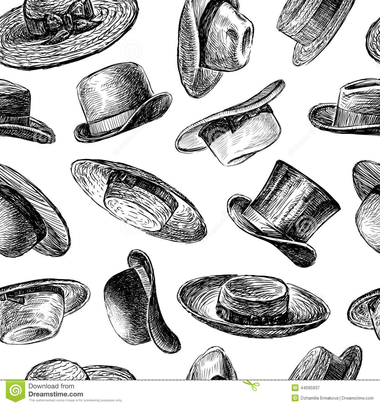 92e00e2a Background with hats stock vector. Illustration of style - 44095937