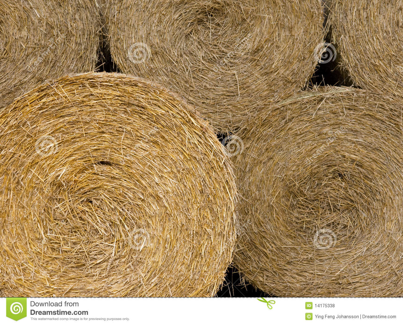 Background of hay bales