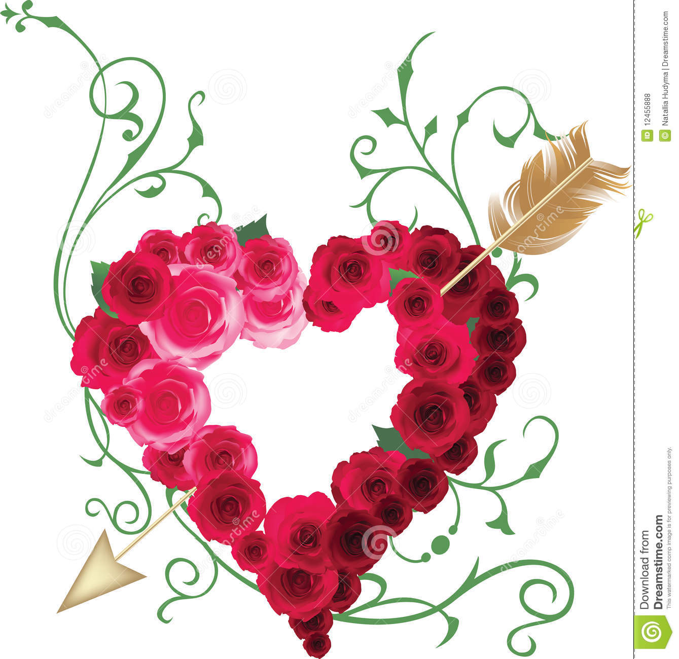 heart and roses background - photo #21