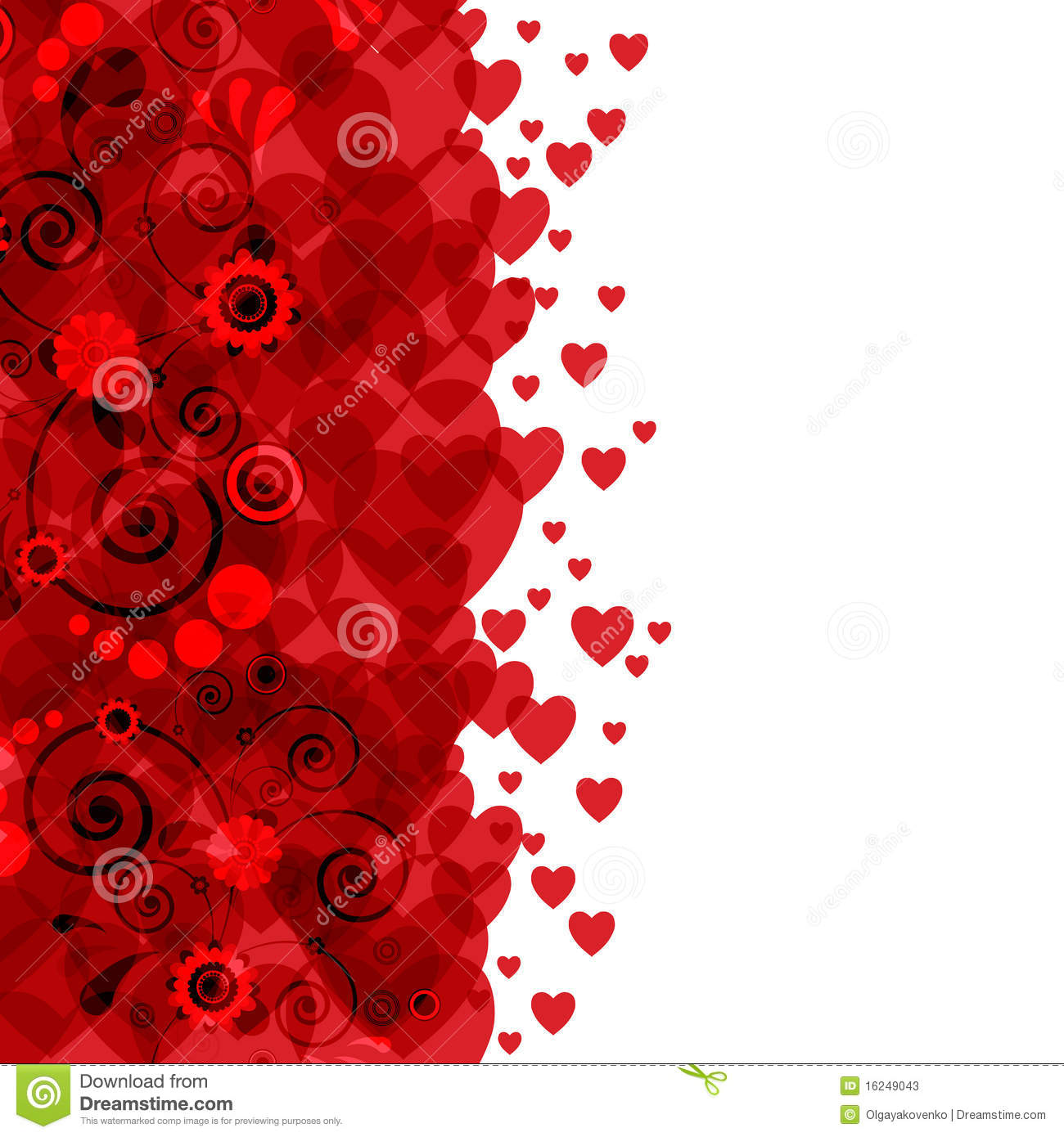 Background Hearts And Flowers Stock s Image