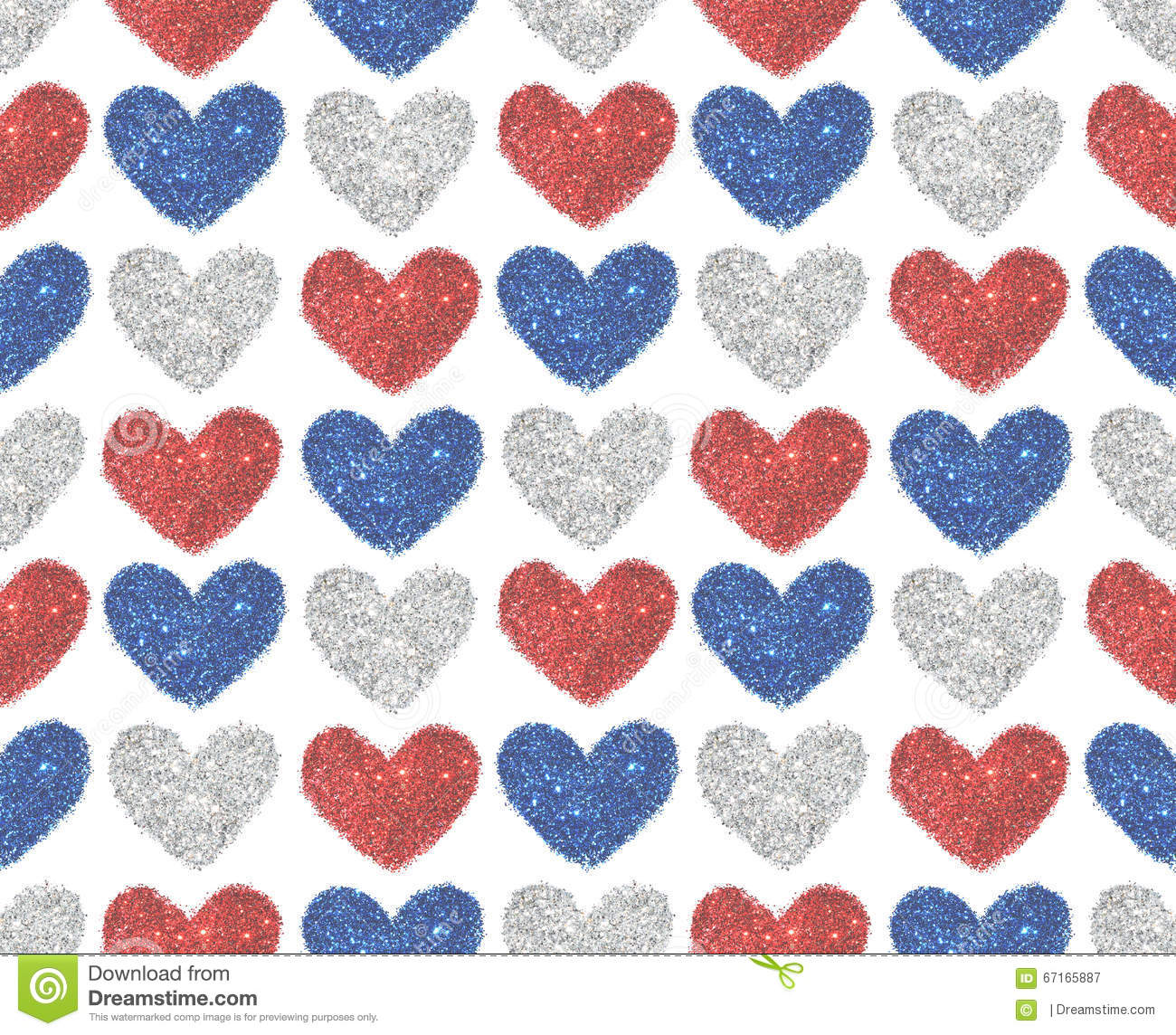 background with hearts of red blue and silver glitter seamless pattern stock image image of brilliant abstract 67165887 dreamstime com