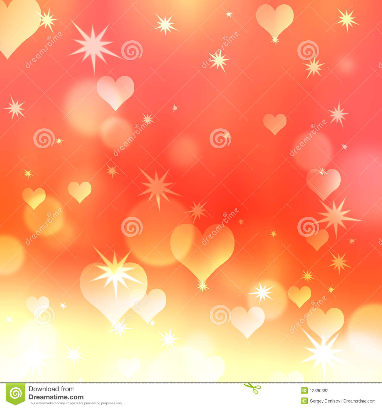 Background With Hearts And Stars Stock Photography - Image ...