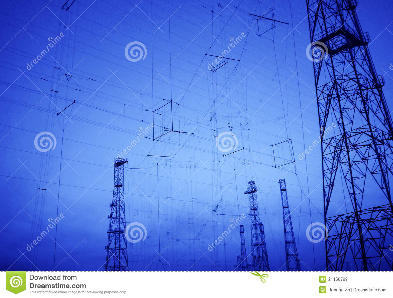 Background hi tech telecommunication technology