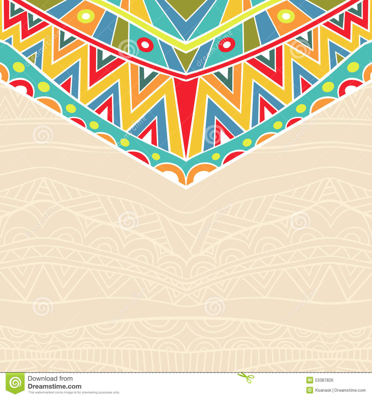 Background with holiday mexican ornament stock vector illustration background with holiday mexican ornament stopboris Image collections
