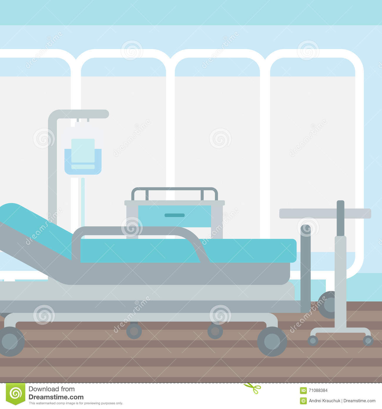 Illustration Of A Sickroom Seamless Vector