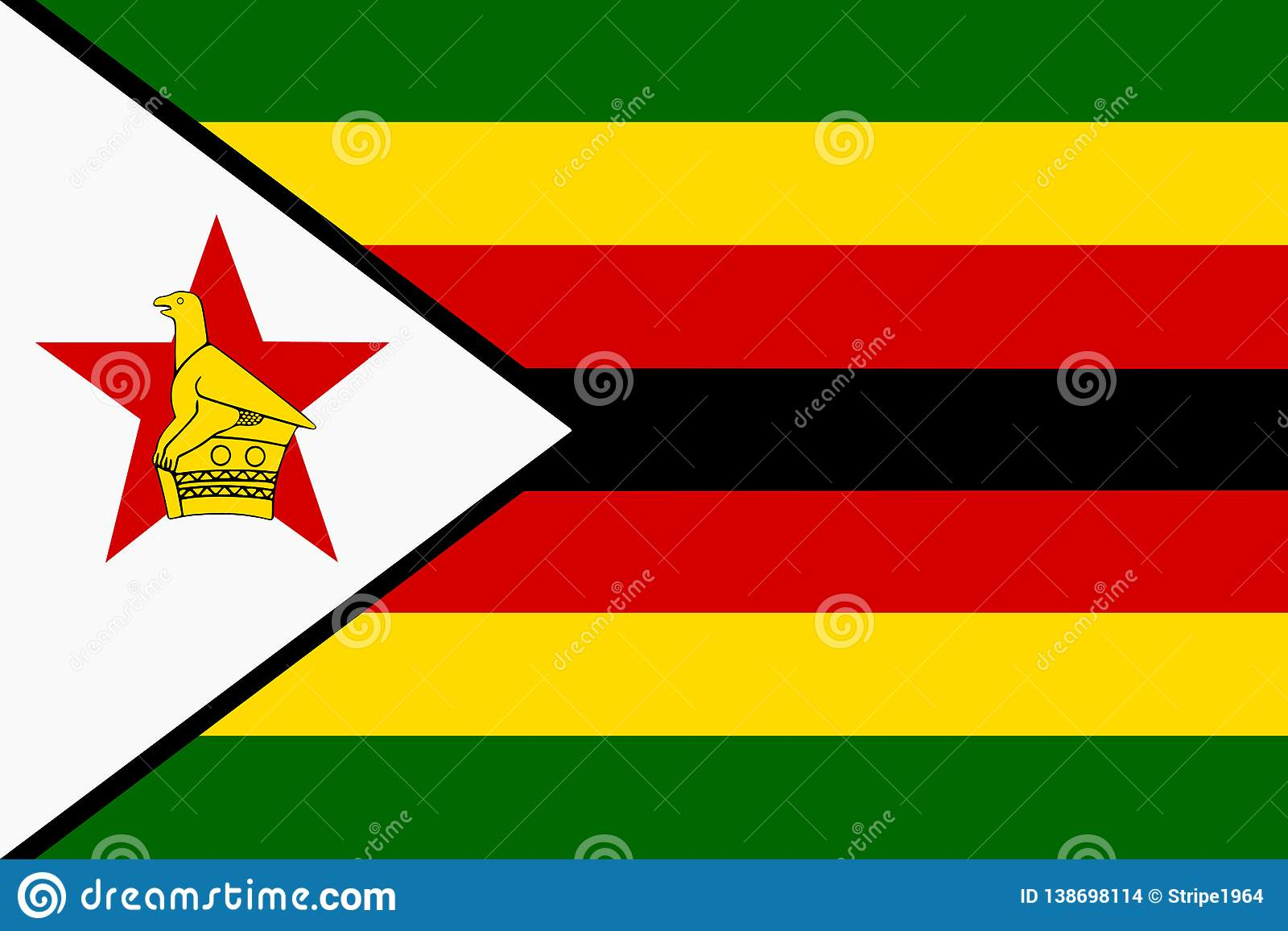 Background Illustration Flag Of Zimbabwe Red Black Yellow White ...