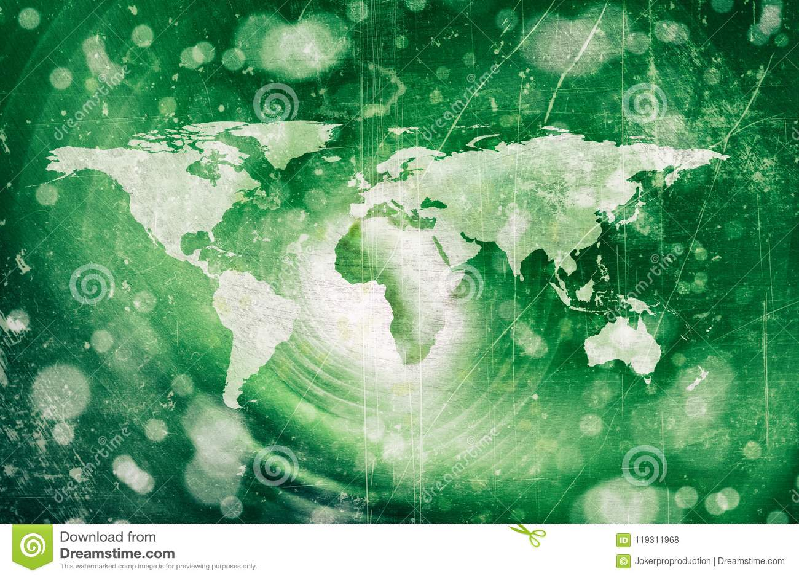 Abstract world map stock illustration  Illustration of light - 119311968