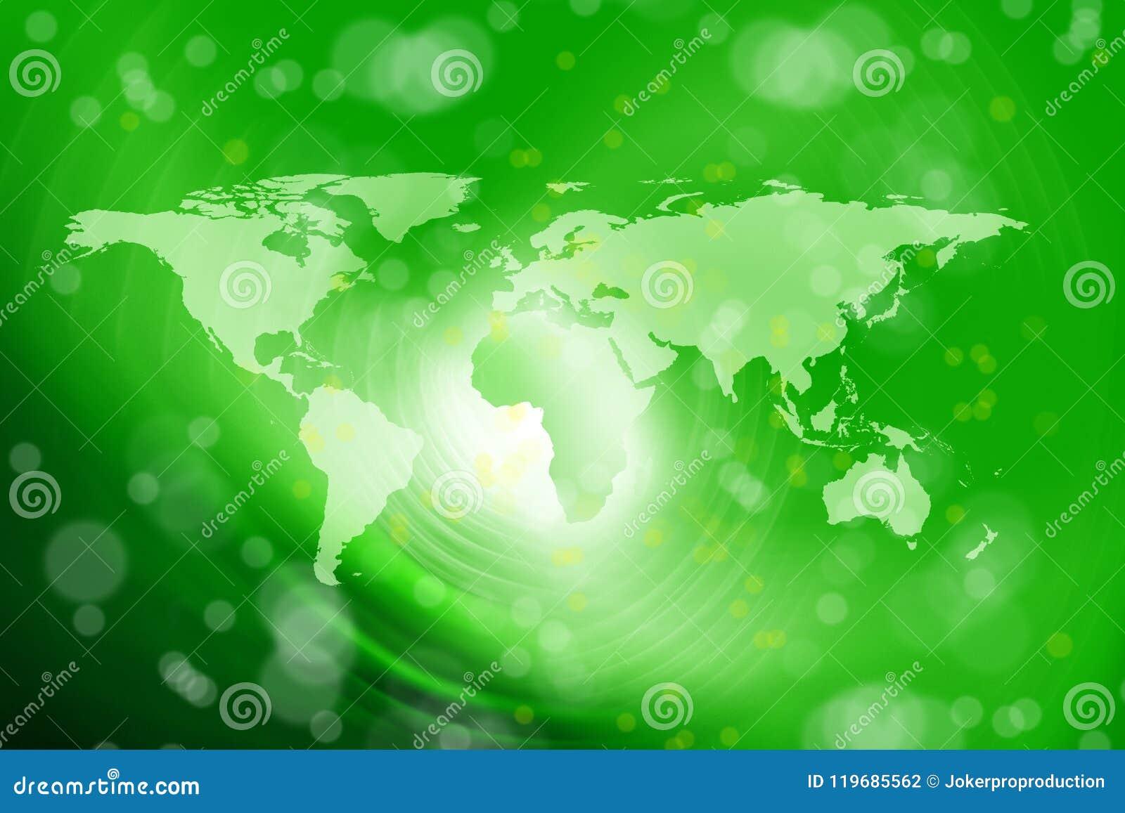 Abstract world map stock illustration  Illustration of global