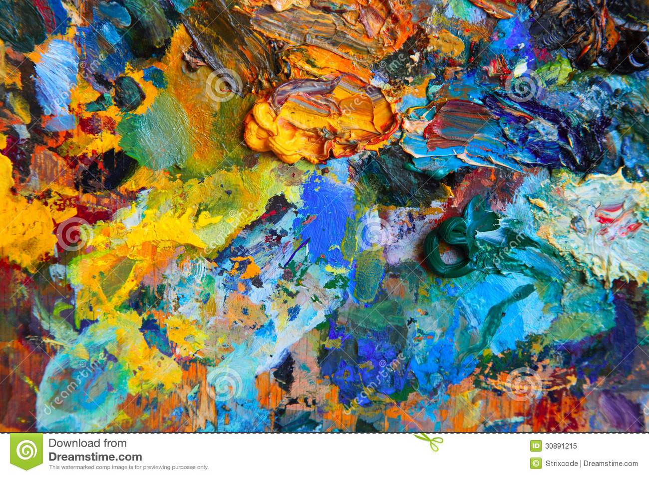 Background Image Of Bright Oil-paint Palette Stock Image ...