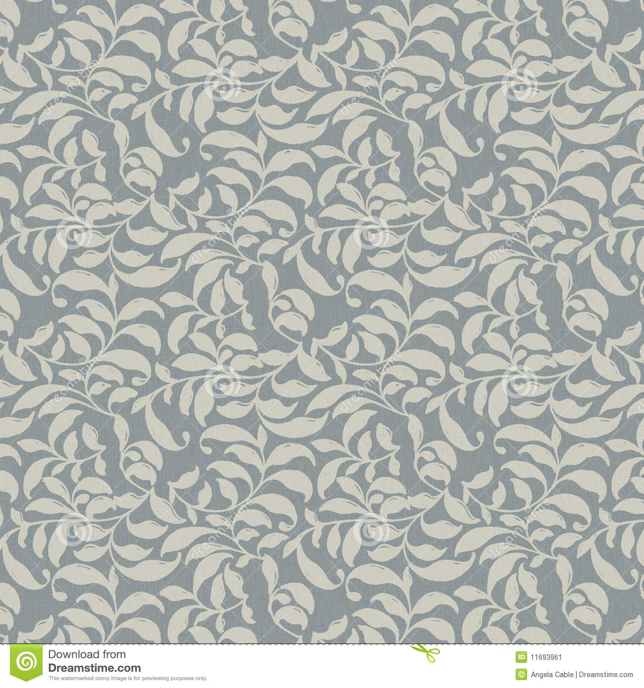 Background Ivory Leaves Allover