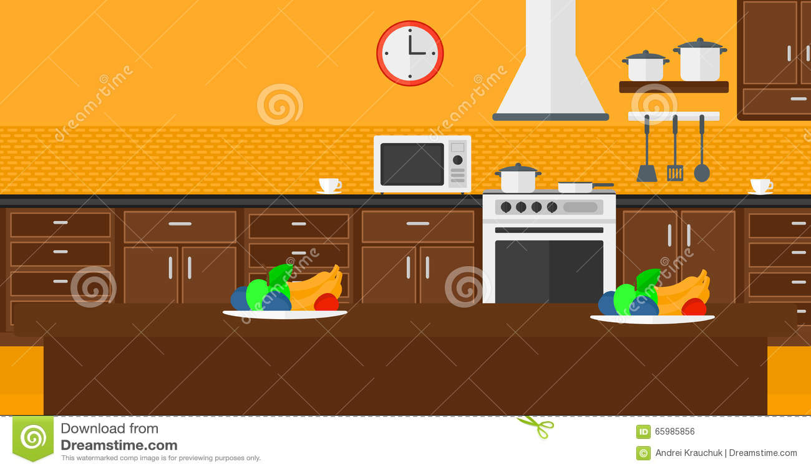 Uncategorized Kitchen With Appliances background of kitchen with appliances stock vector image 65985856 vector