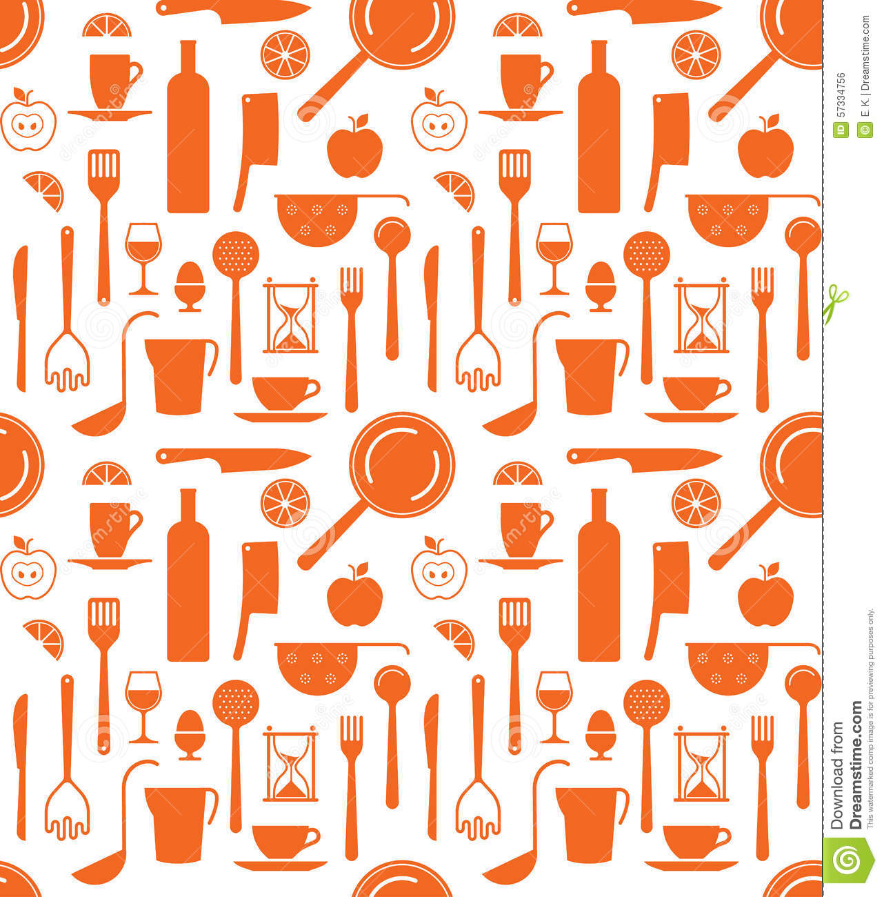 Background with kitchen utensils silhouettes stock vector - Ustensile de cuisine vintage ...