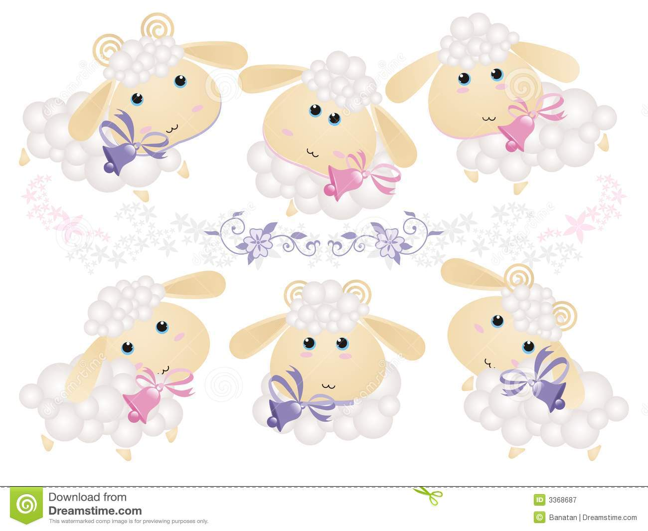 Background With Lambs Royalty Free Stock Photography