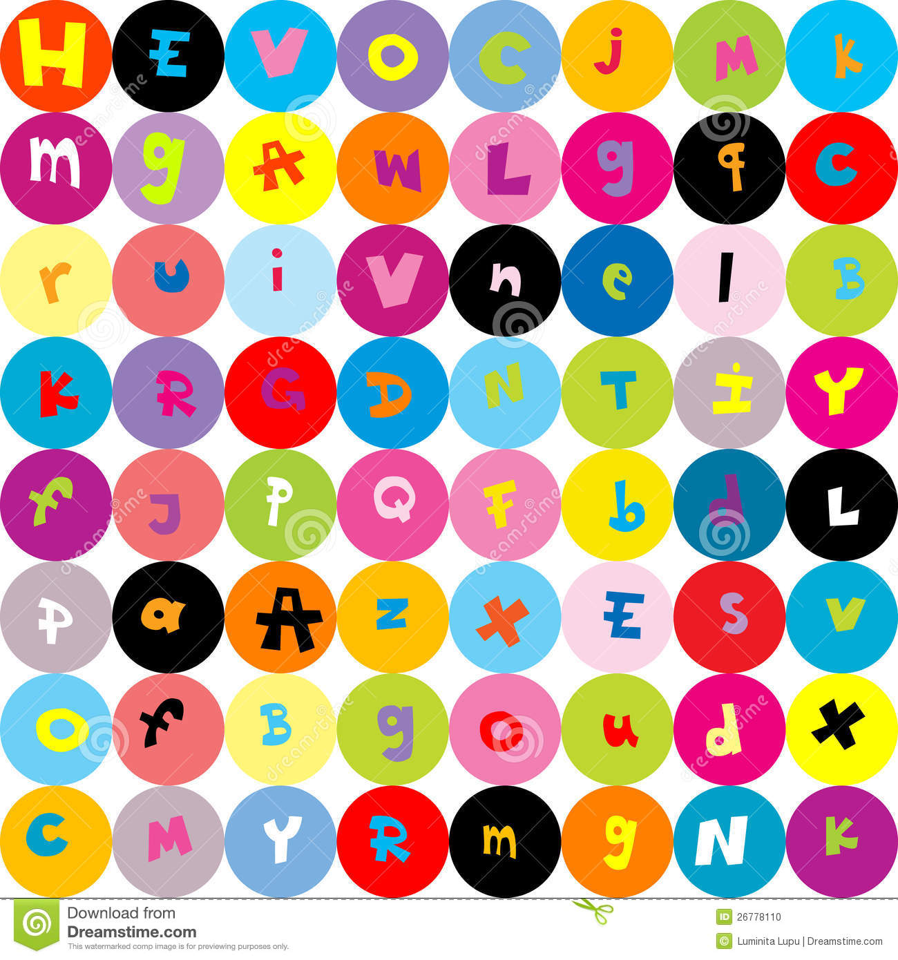 Background With Letters, Seamless Pattern For Kids Stock Photo - Image: 26778110