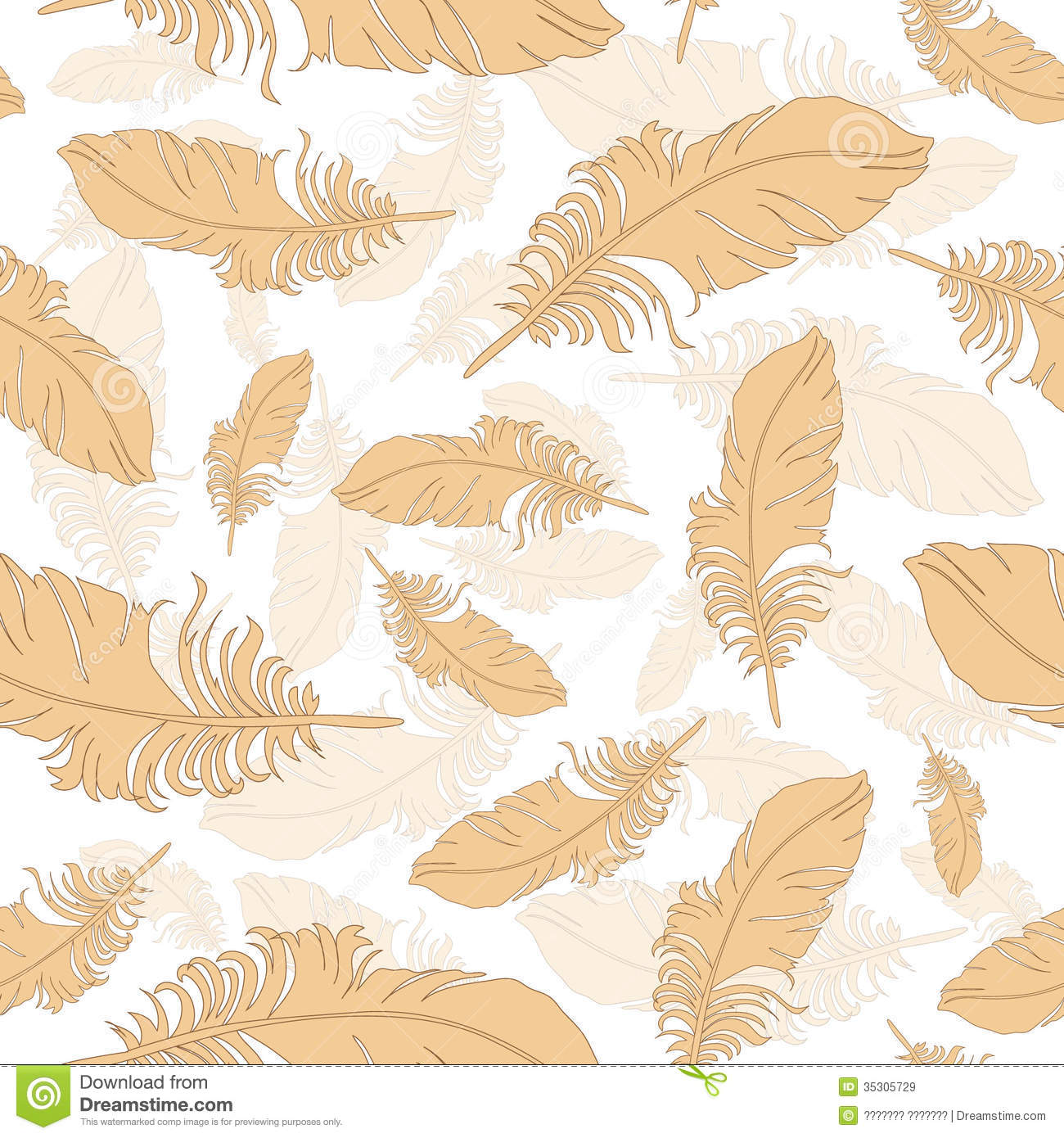 Background Of Light Orange Feathers Vector Stock Vector ... for Background Pattern Light Orange  587fsj