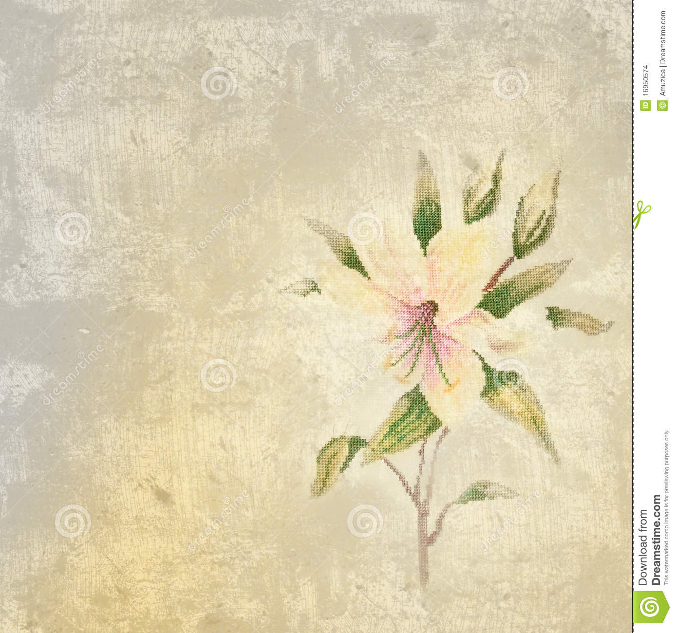Background with lily flower