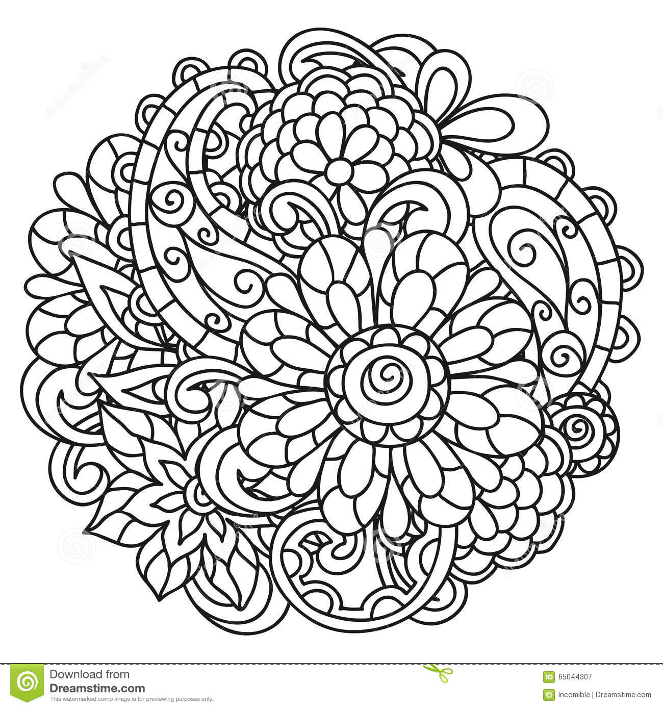 Coloring pages for adults flowers - Adult Background Coloring Drawing Line Page