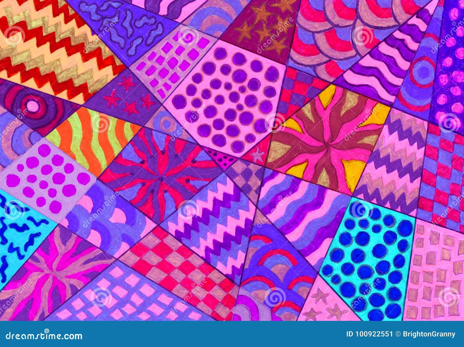 Many sorts of patterns  stock illustration  Illustration of