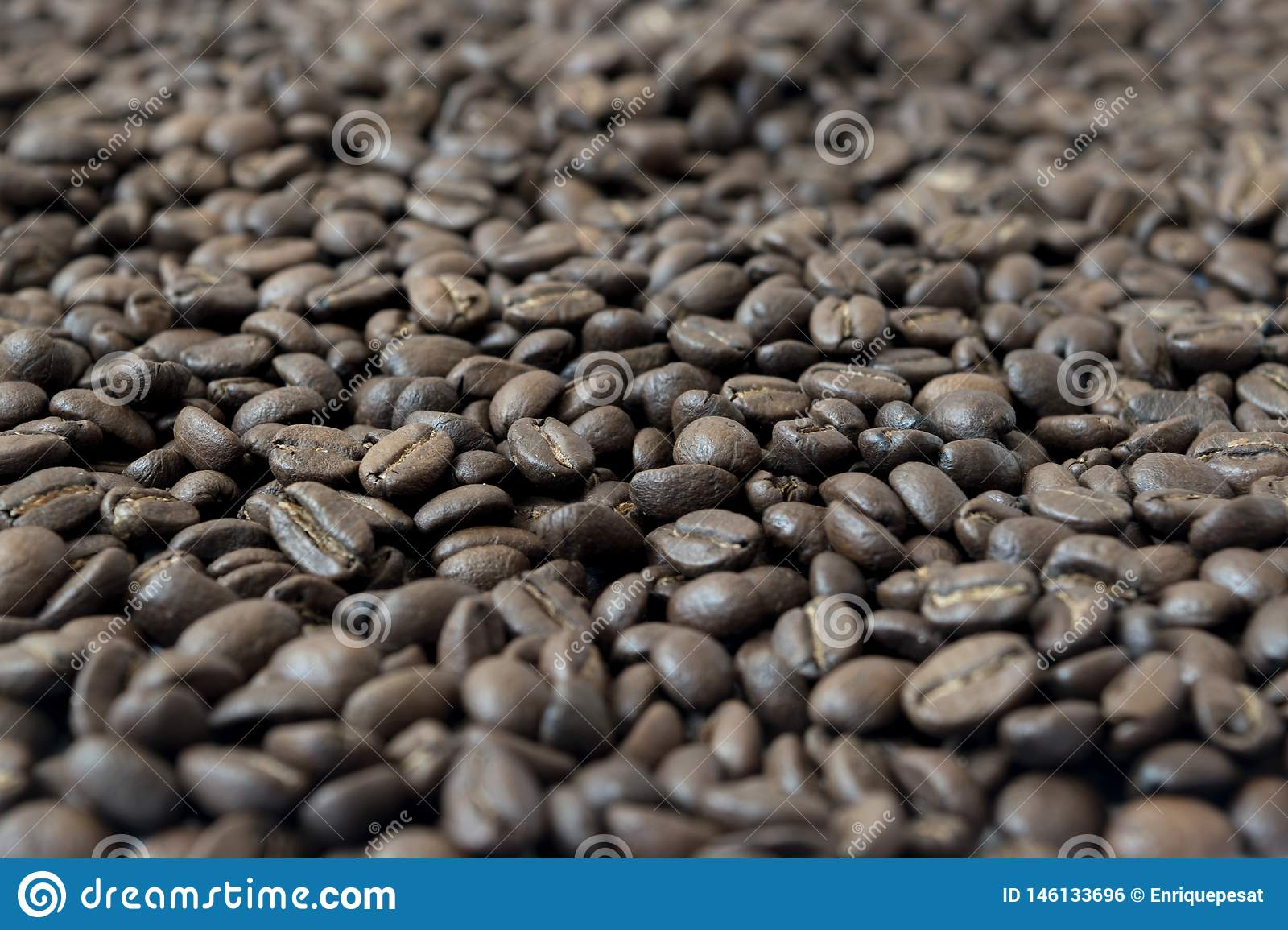 Background made of coffee beans
