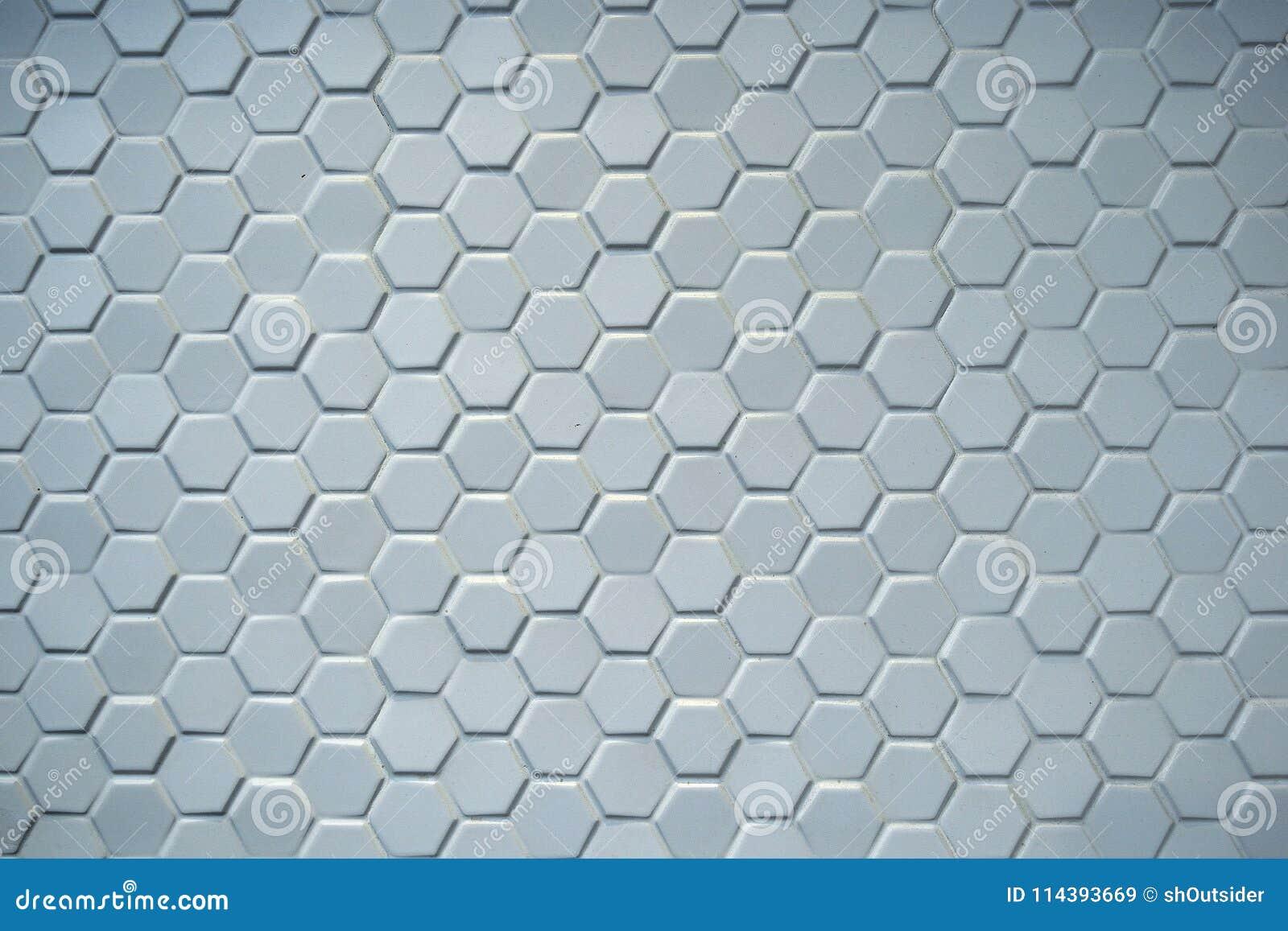 Hexagonal Ceramic Blue Tiles Stock Image - Image of blue, texture ...