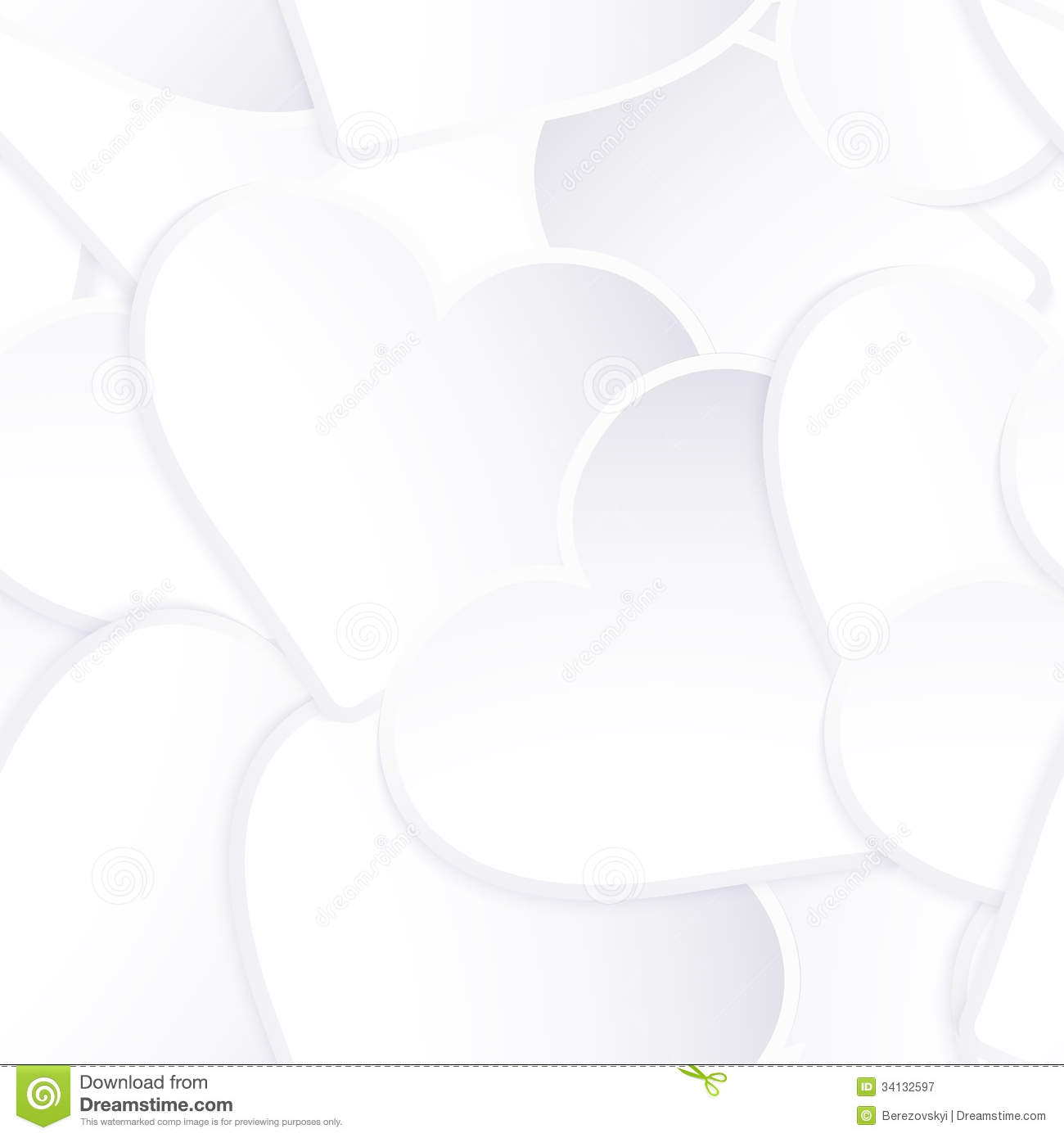 Background Made Of White Heart Stickers. EPS 10 Stock ...